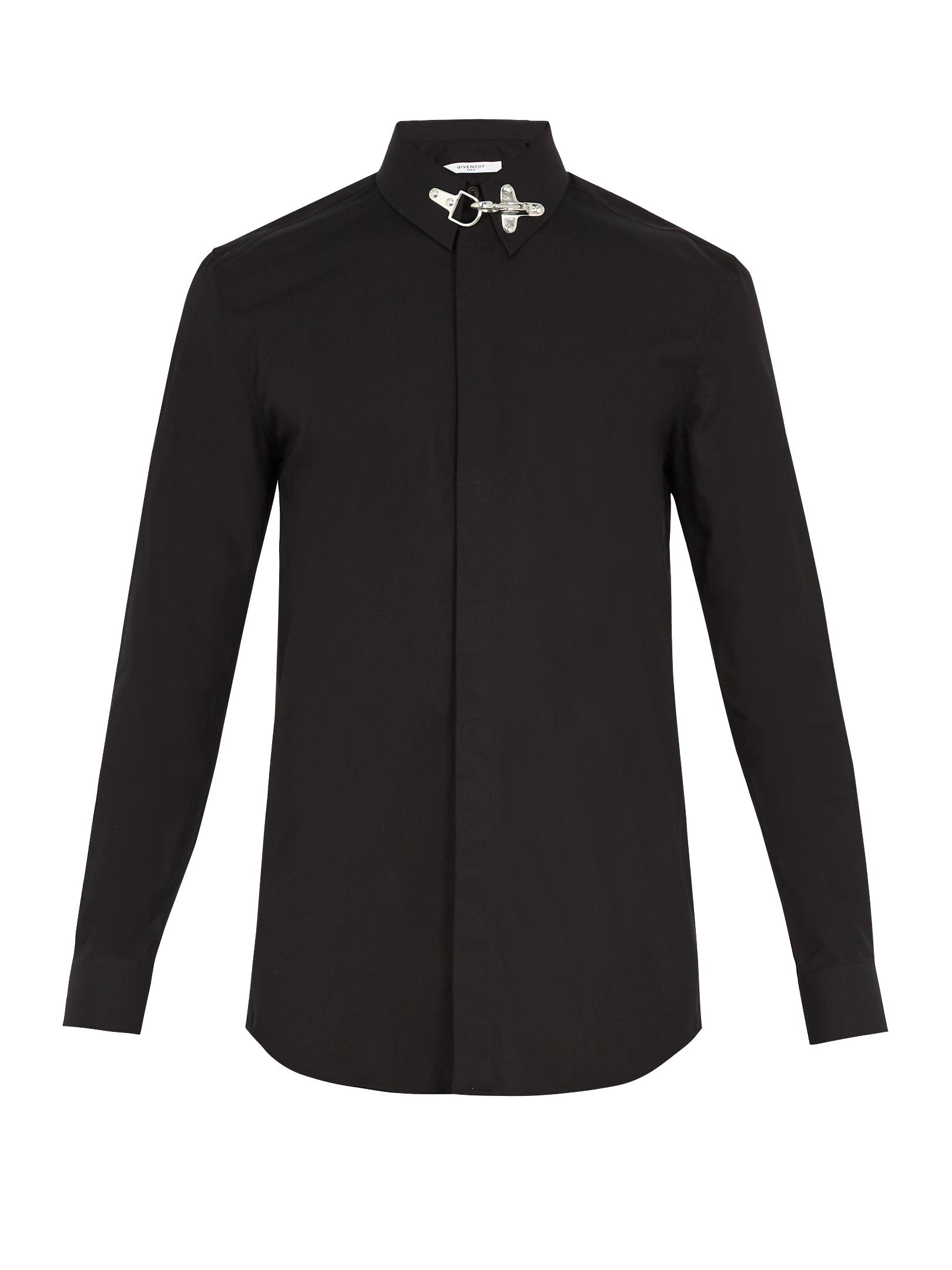 Lyst Givenchy Cuban Fit Collar Fastening Cotton Shirt In Black For Men