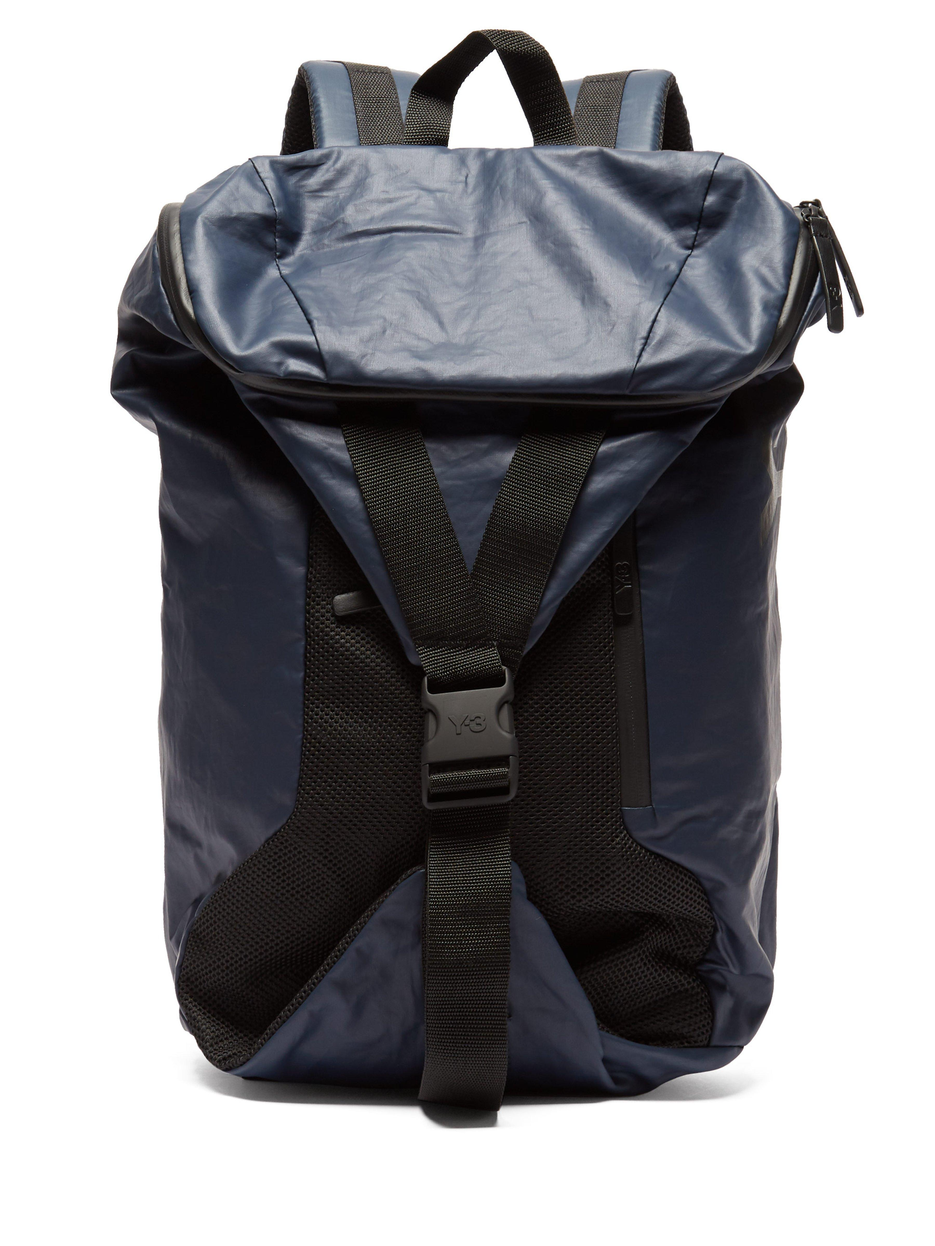 Y-3 Base Technical Backpack in Black for Men - Lyst 77cfb254be