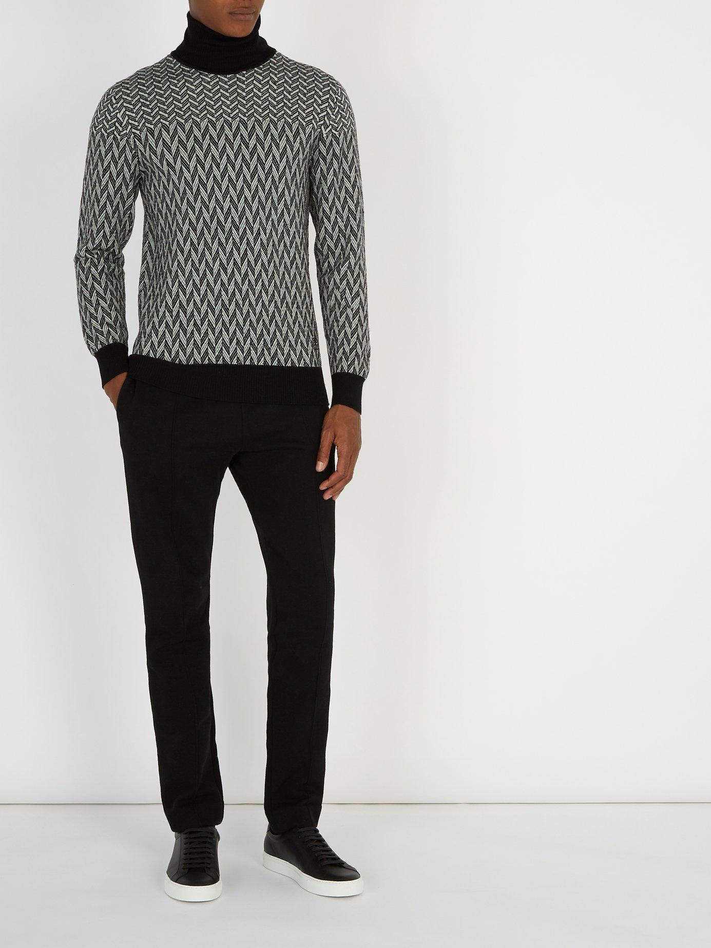 f3089a82 Lyst - Givenchy Graphic Cotton Sweater in Black for Men