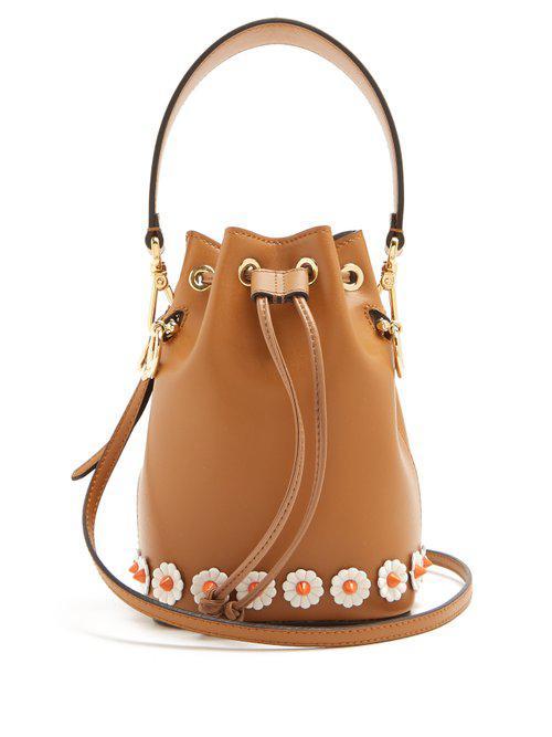 3ddfe1b287a3 Fendi My Treasure Leather Bucket Bag - Lyst