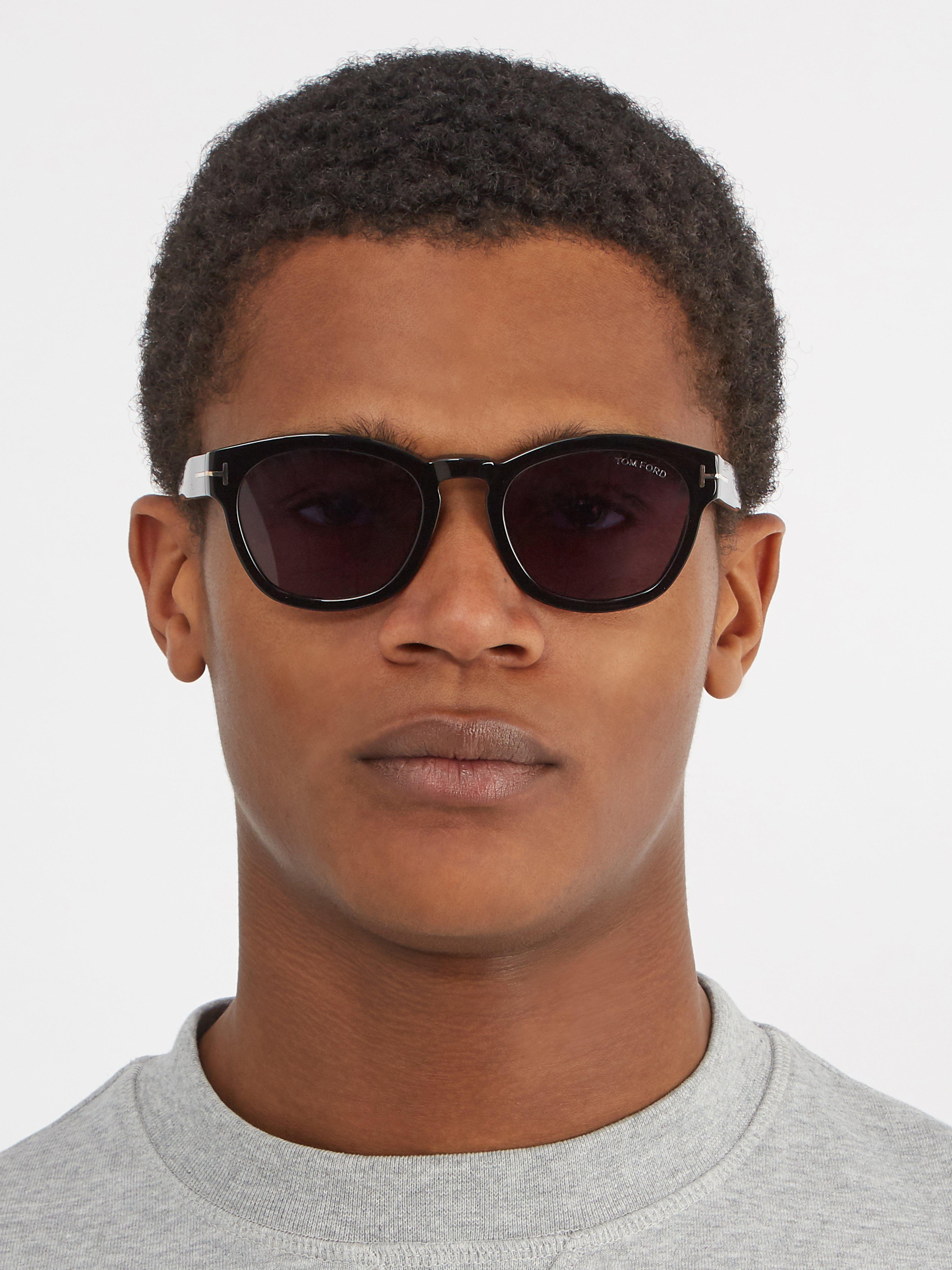 6fe4ee46a5 Tom Ford - Black Bryan Square Frame Sunglasses for Men - Lyst. View  fullscreen