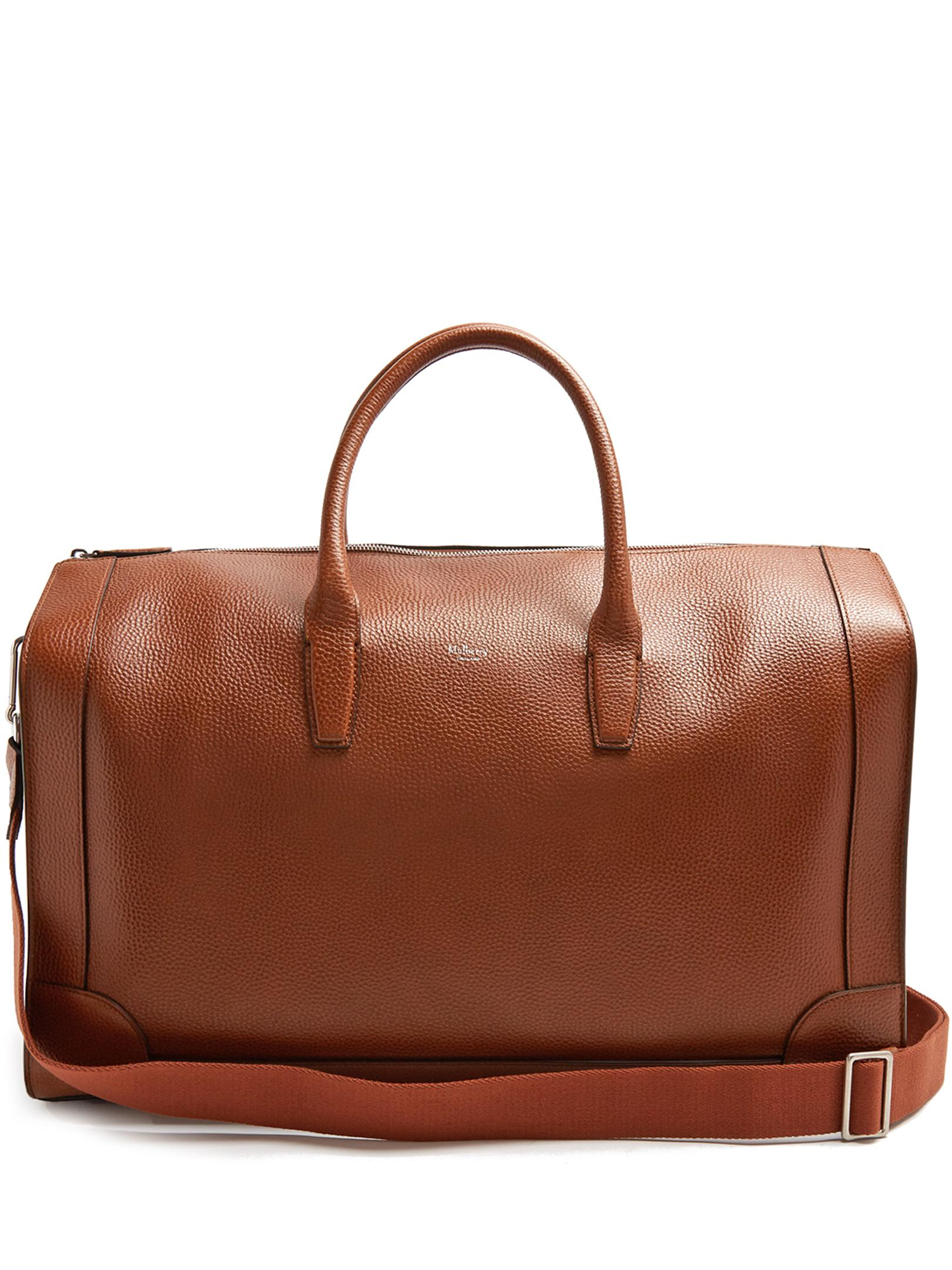 Lyst - Mulberry Belgrave Grained-leather Holdall in Brown for Men 277fd7ee120a9