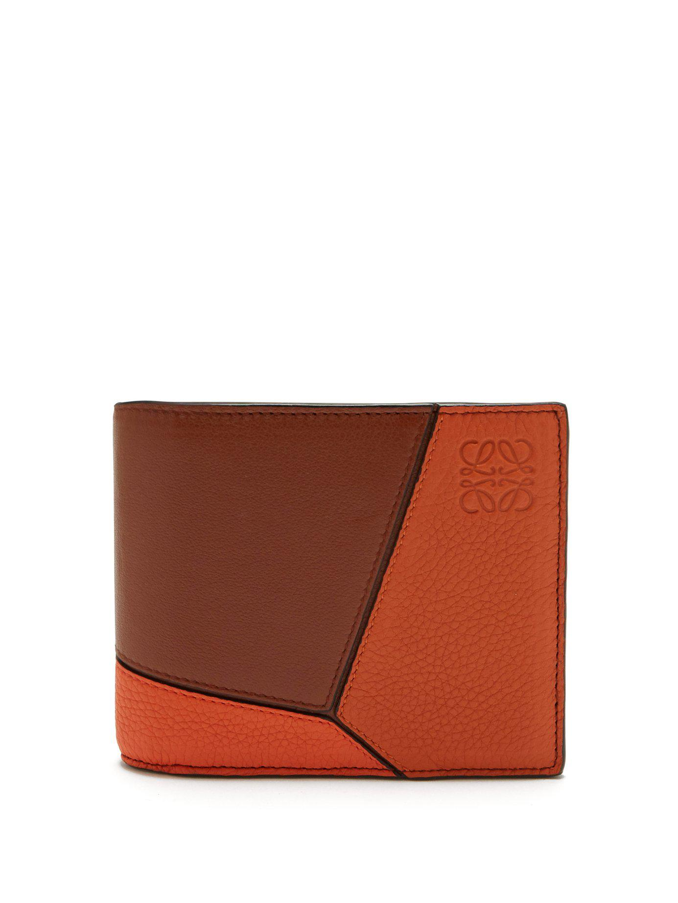 723b1a8755908a Loewe - Multicolor Puzzle Grained Leather Bi Fold Wallet for Men - Lyst.  View fullscreen