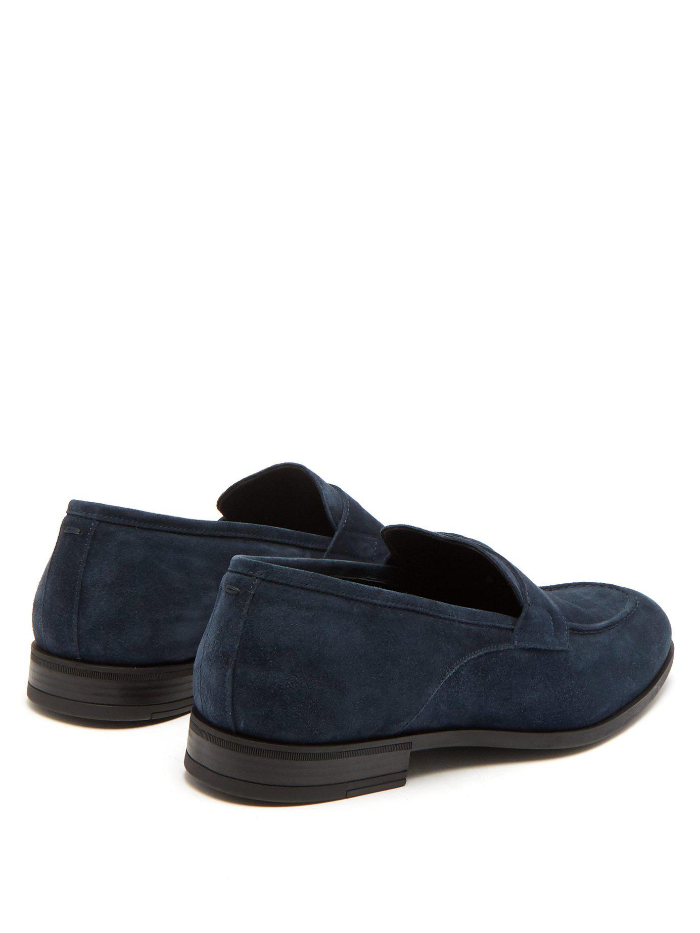 953485f9937 Lyst - Harry s Of London Clive Suede Loafers in Blue for Men