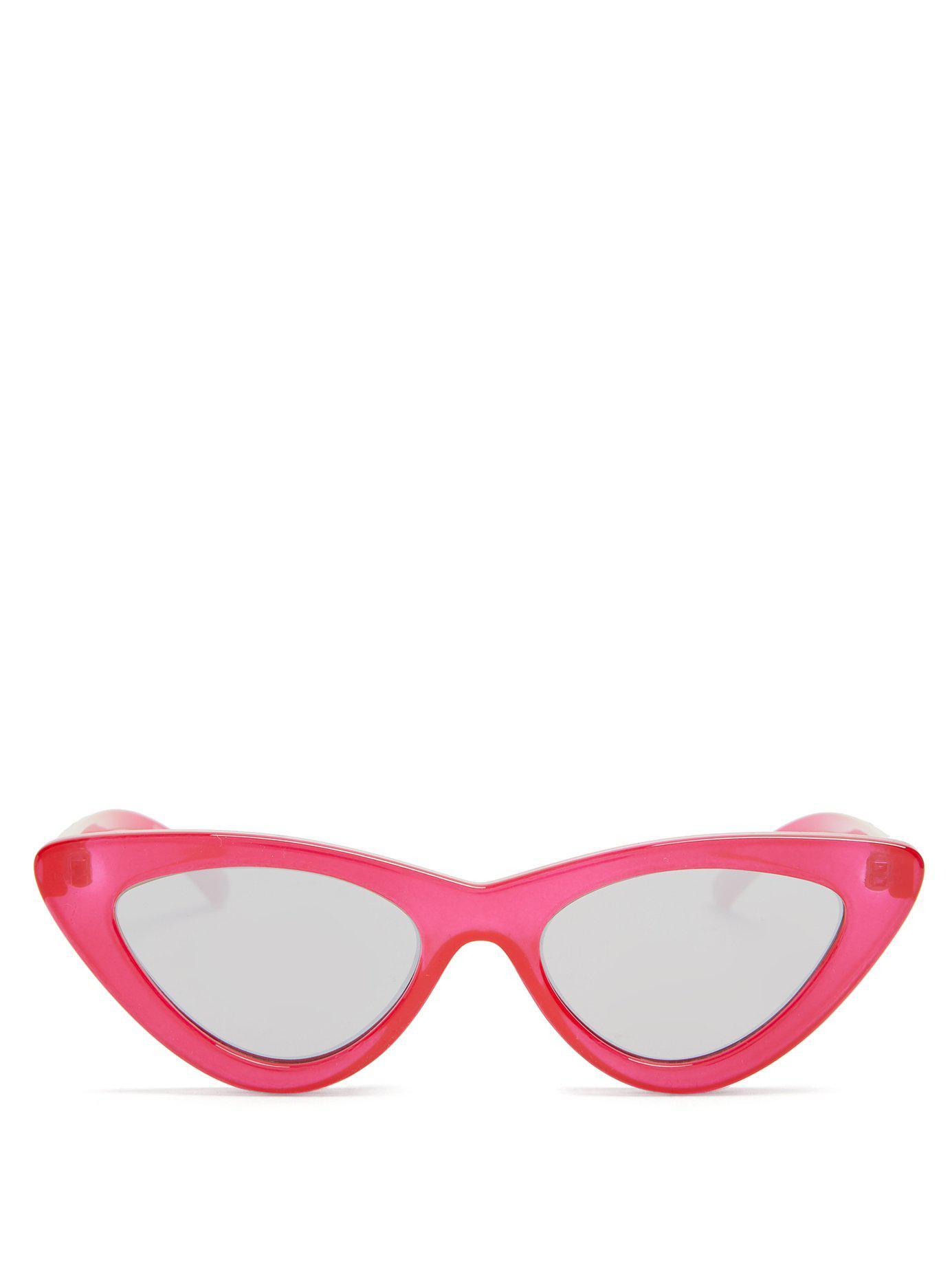 0faacb5b64e Lyst - Le Specs The Last Lolita Cat-eye Sunglasses in Red - Save 33%