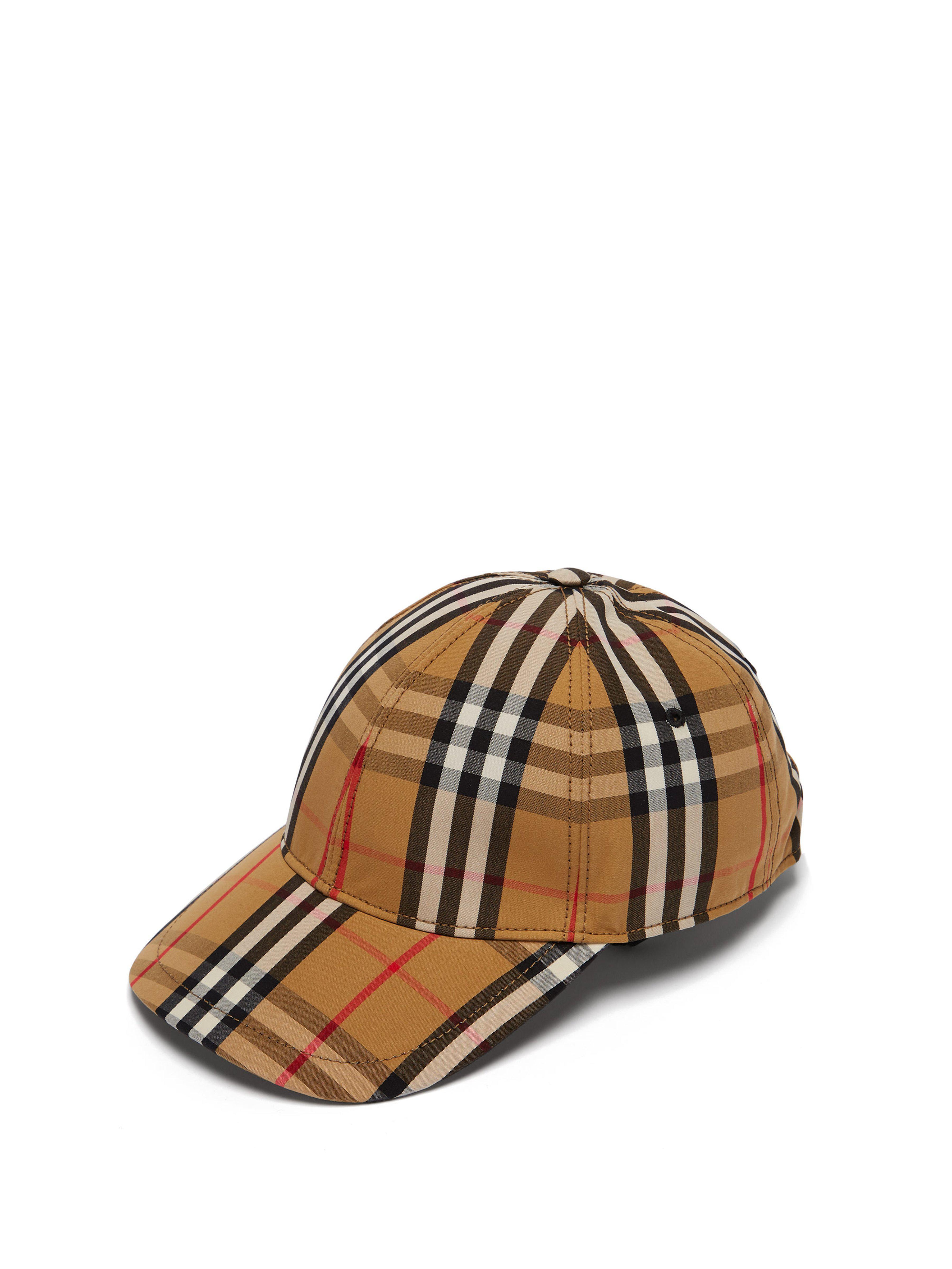 022dc049 Burberry Vintage Check Cotton Baseball Cap - Save 11% - Lyst