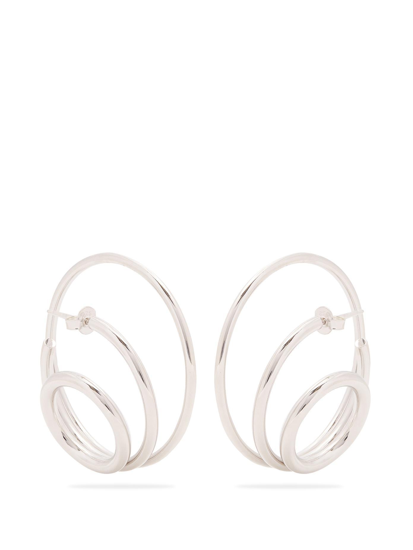 Charlotte Chesnais Ricoche Medium Earrings - Silver Silver XqnrB