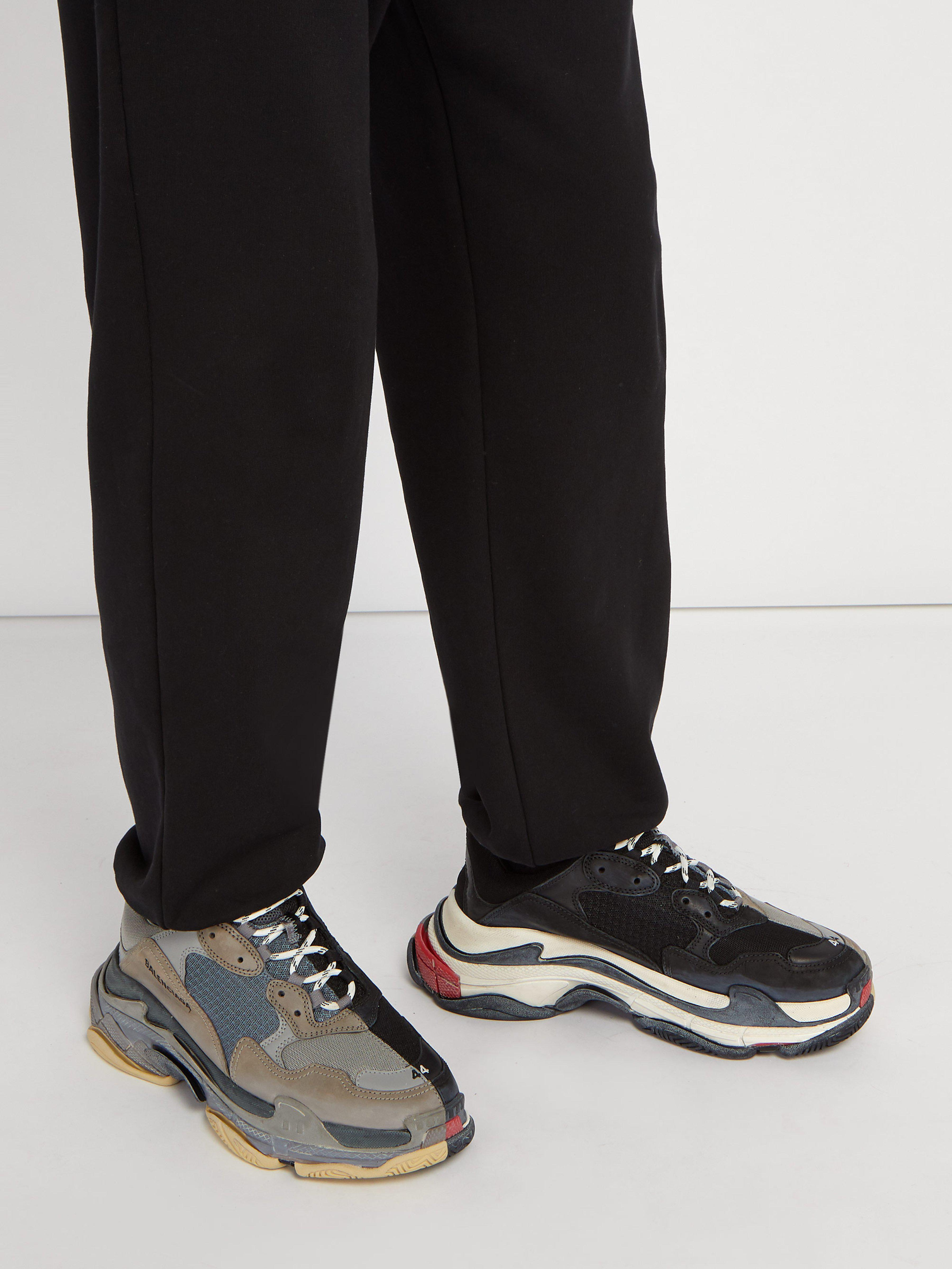 fc9c7be79bc05d Balenciaga Men s Triple S Trainer Sneakers - Grey Black - Size 39 (6) E in  Gray for Men - Save 14% - Lyst