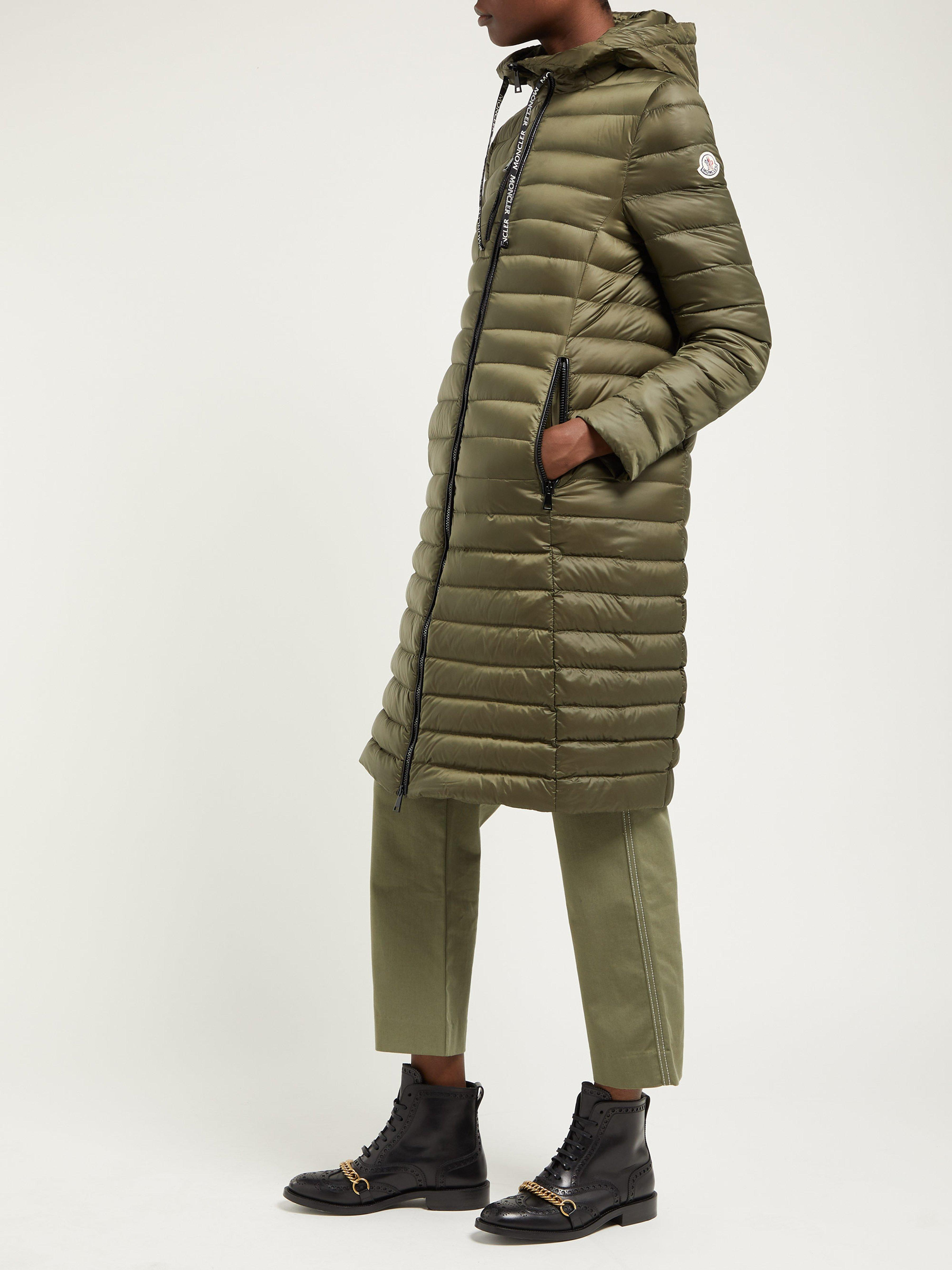 4178f92a965d Moncler Suvette Quilted Down Coat in Green - Lyst