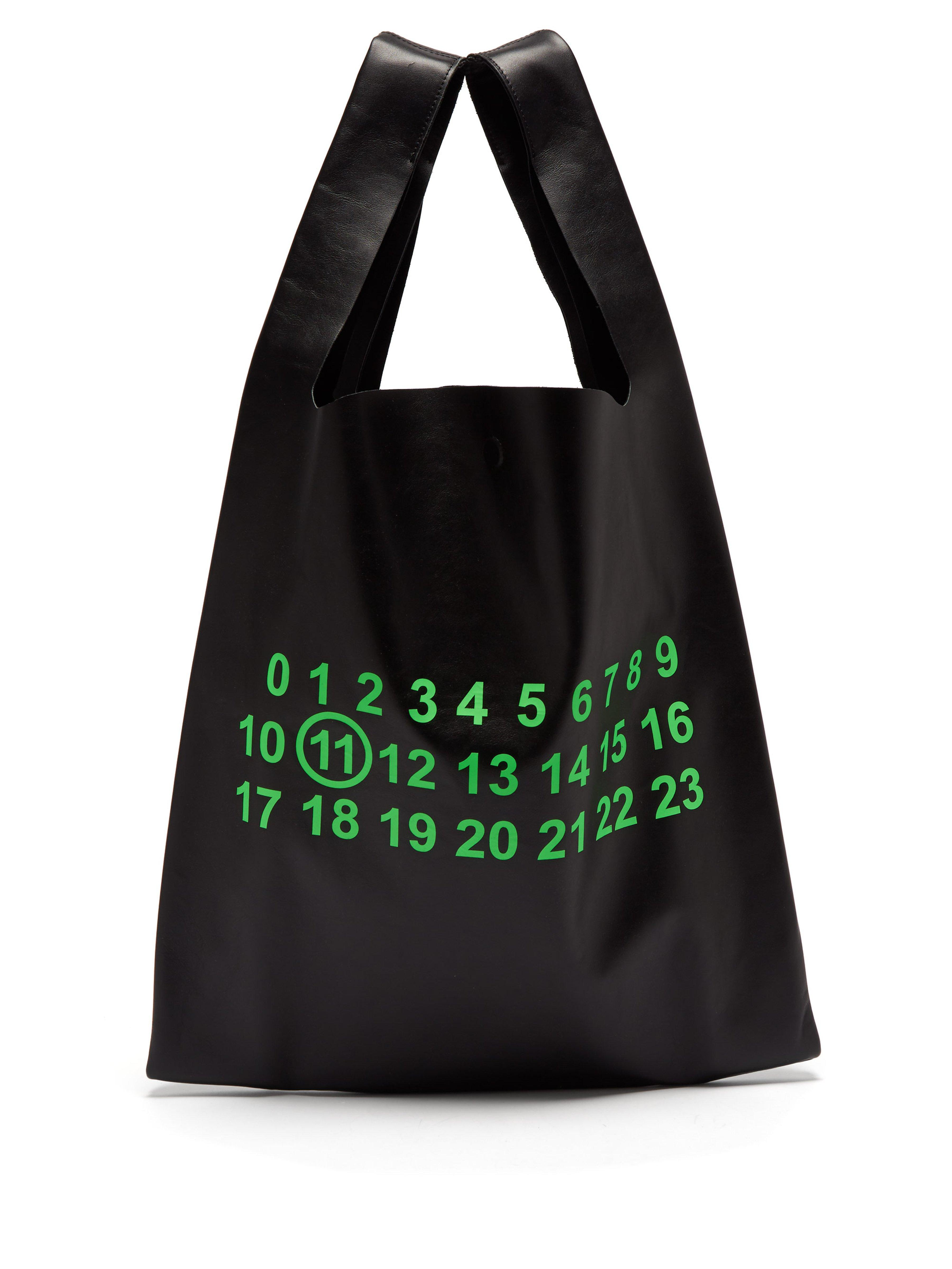 Maison Margiela Logo Shopper Tote Bag in Black for Men - Lyst b68733cec3f