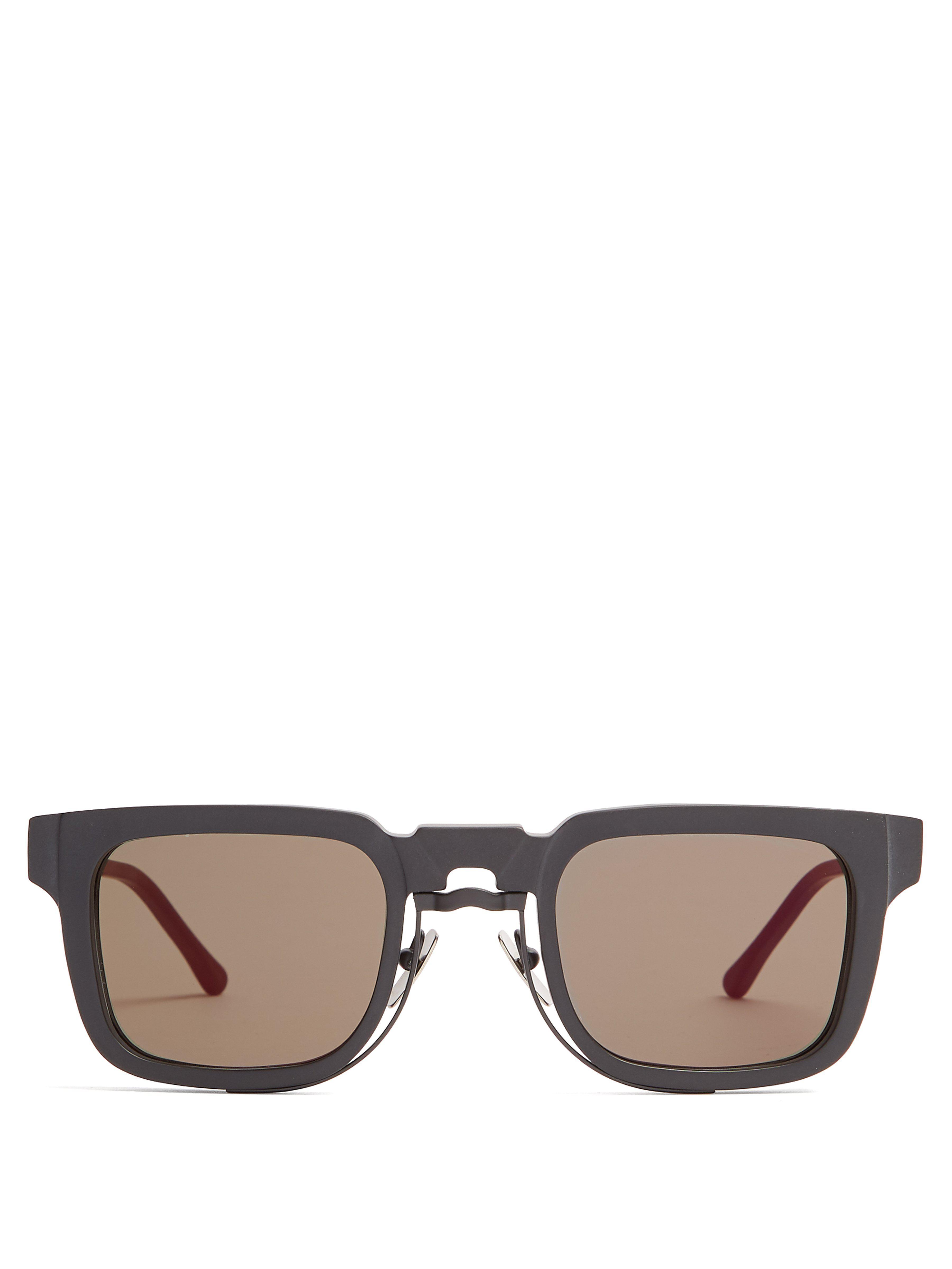 cdf94e337f42 Kuboraum Square Frame Acetate Sunglasses in Black for Men - Lyst