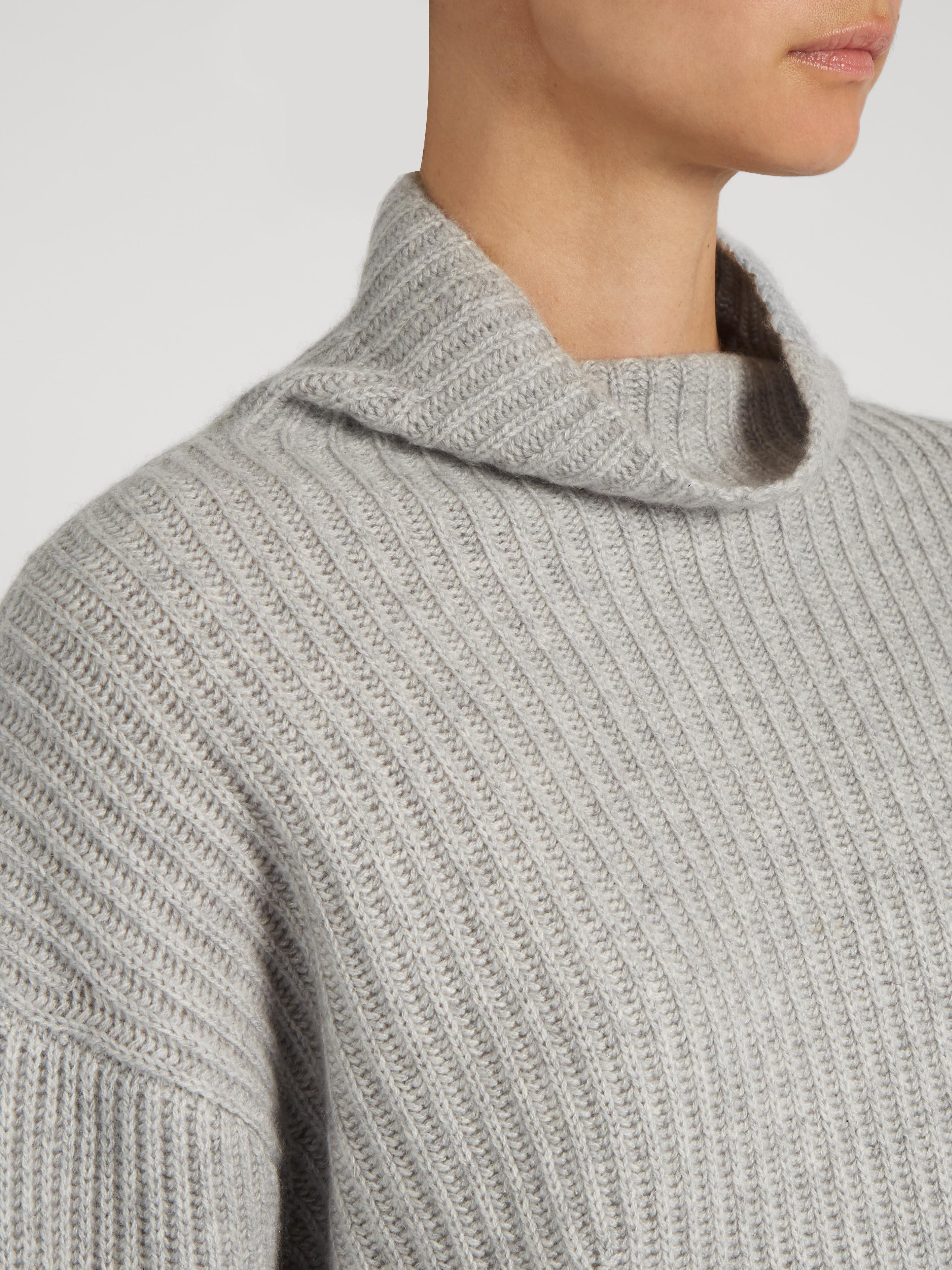 Le kasha Verbier Ribbed-knit Cashmere Sweater in Gray | Lyst