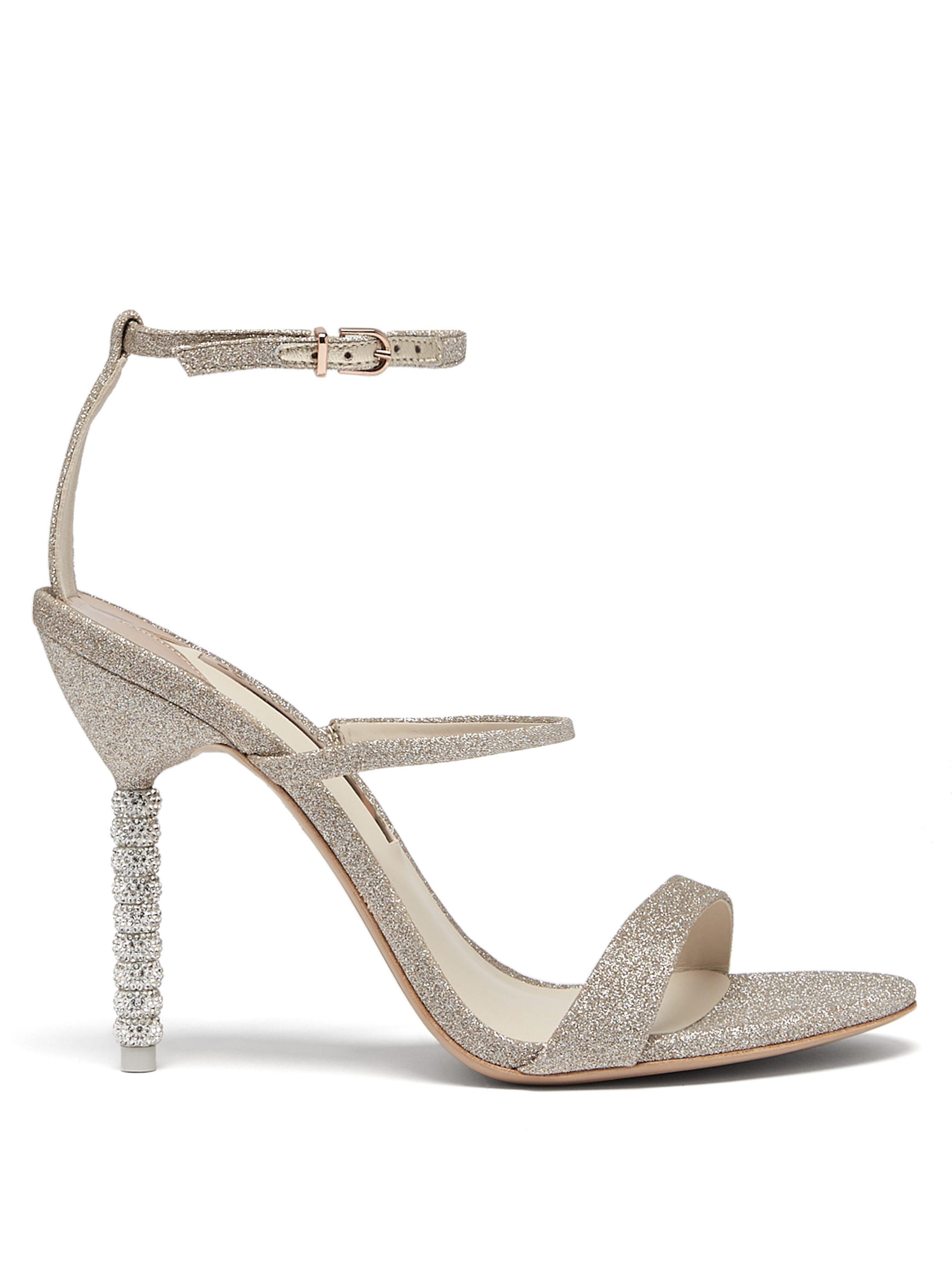 eca147883 Sophia Webster. Women s Metallic Rosalind Crystal Embellished Leather  Sandals