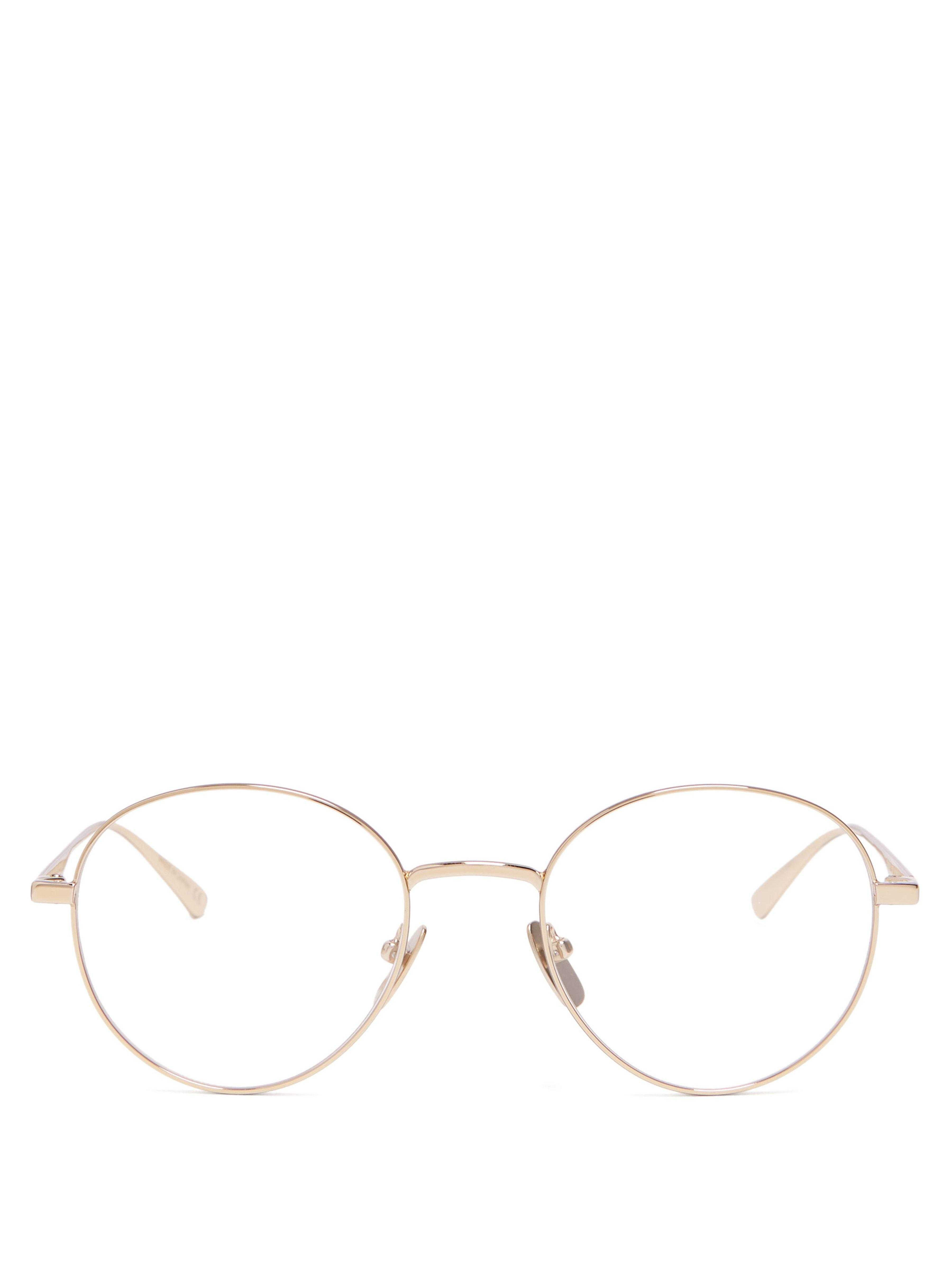 123a9b727f Gucci Round Metal Glasses in Metallic for Men - Lyst