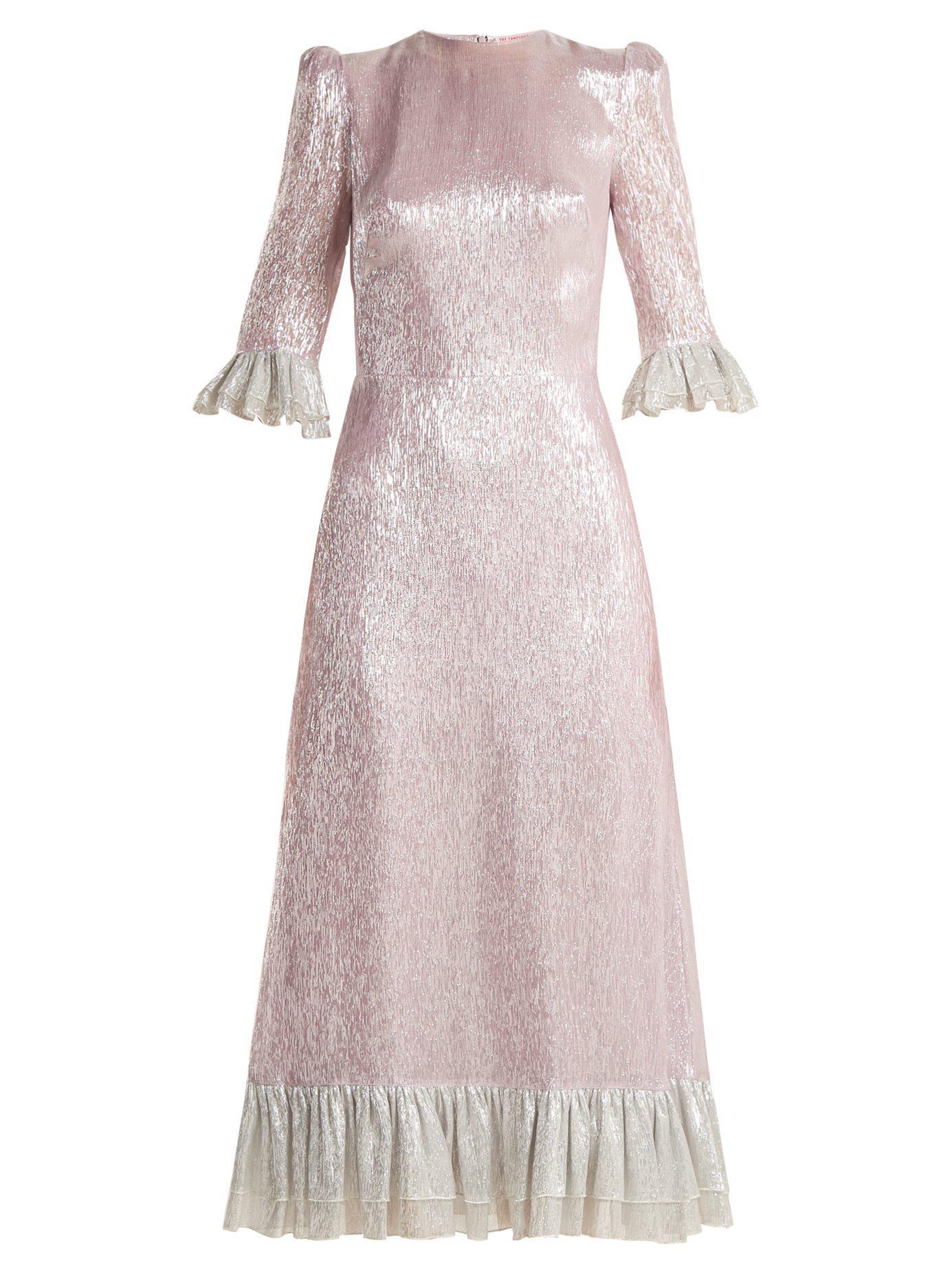 d6d9042451c2 The Vampire's Wife Falconetti Ruffle-trimmed Silk-blend Dress in ...