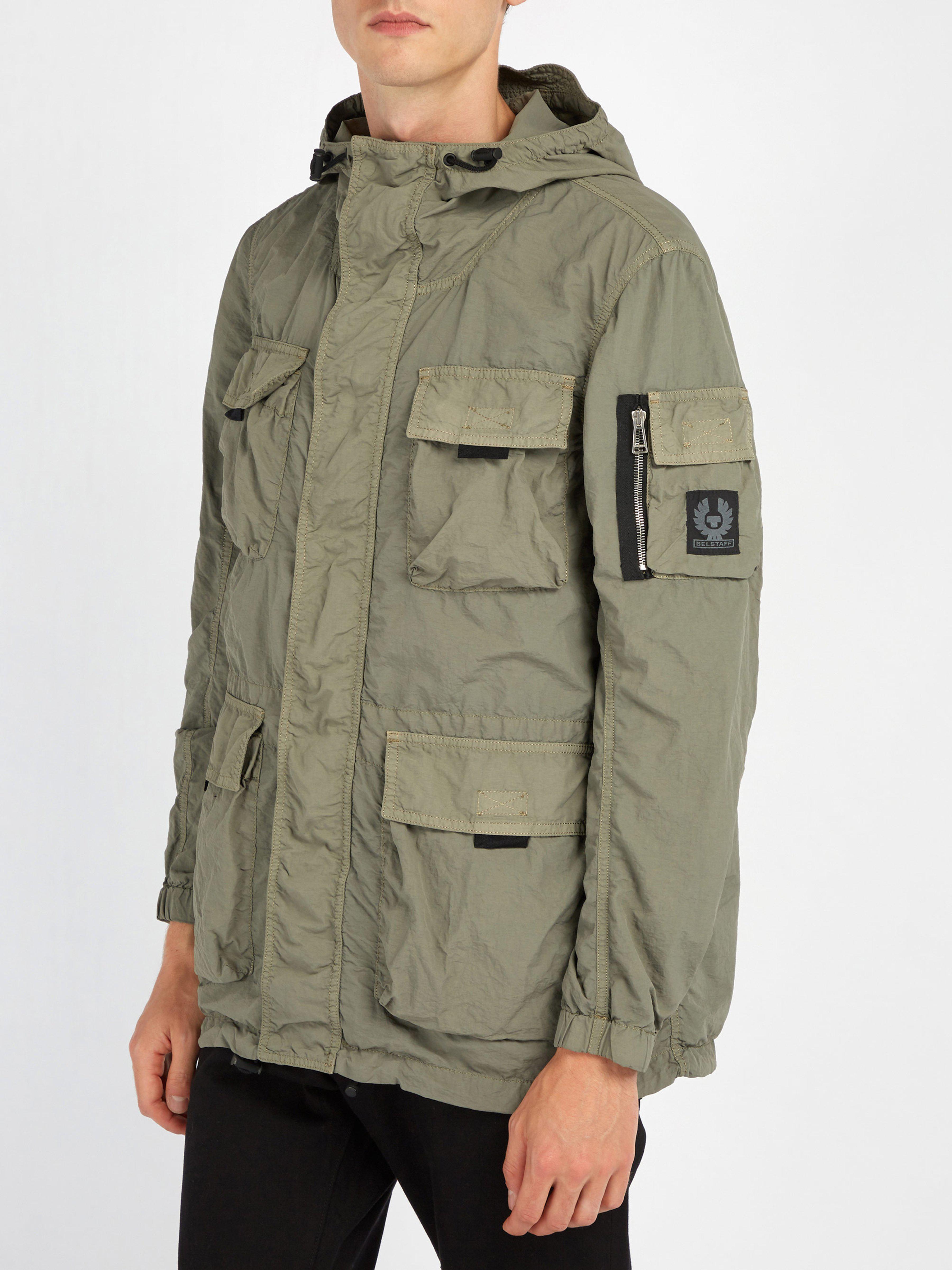 bbf1234571 Belstaff Pallington Double-layered Lightweight Jacket in Green for ...