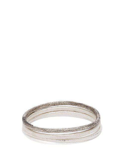 Pearls Before Swine Oxidised sterling-silver cuff set tDnfLS