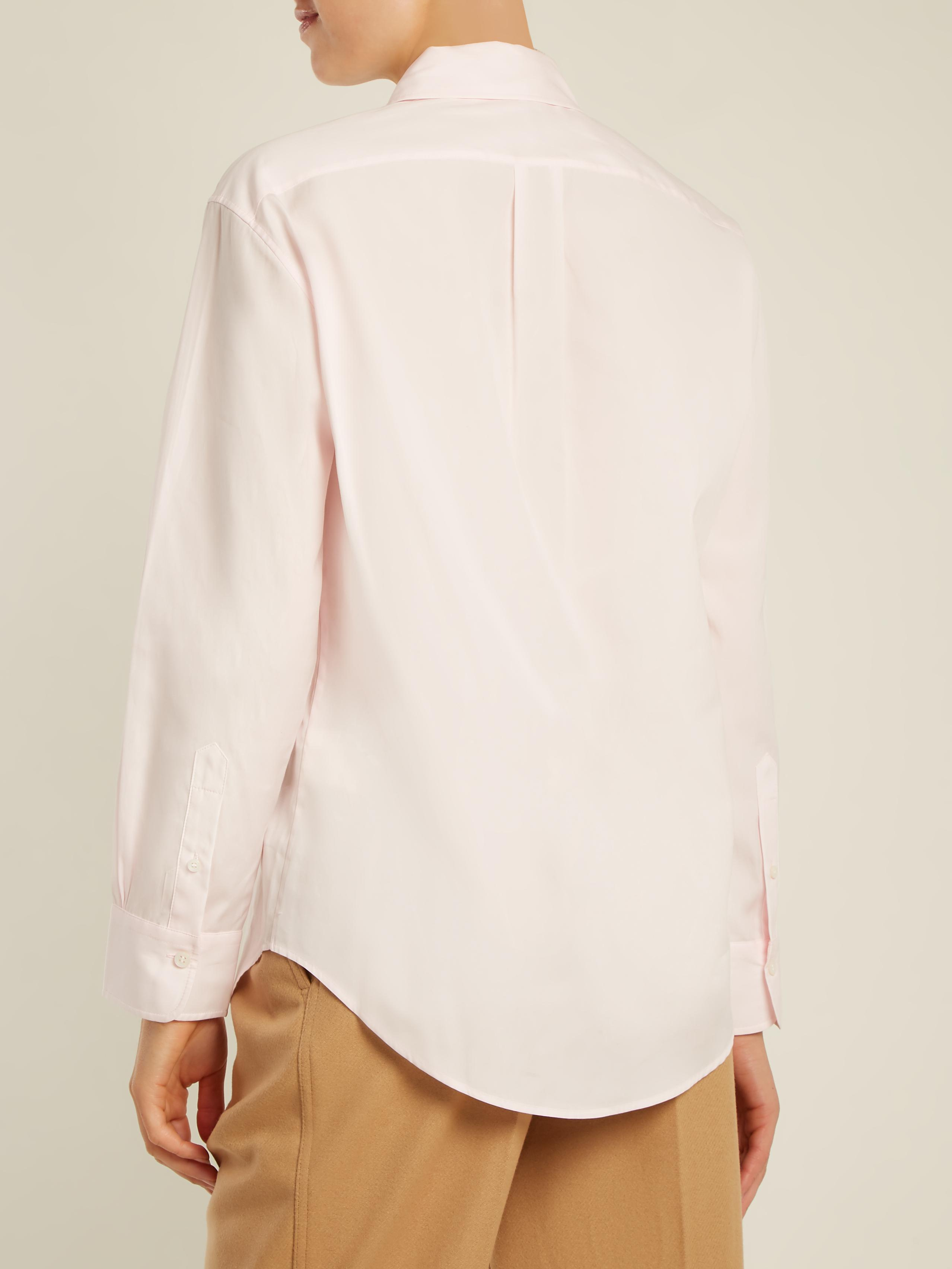 Cheap Sale Top Quality Beatrix logo-embroidered cotton shirt Acne Studios Sale For Nice Cheapest Cheap Sale Classic tVWmlifNrN