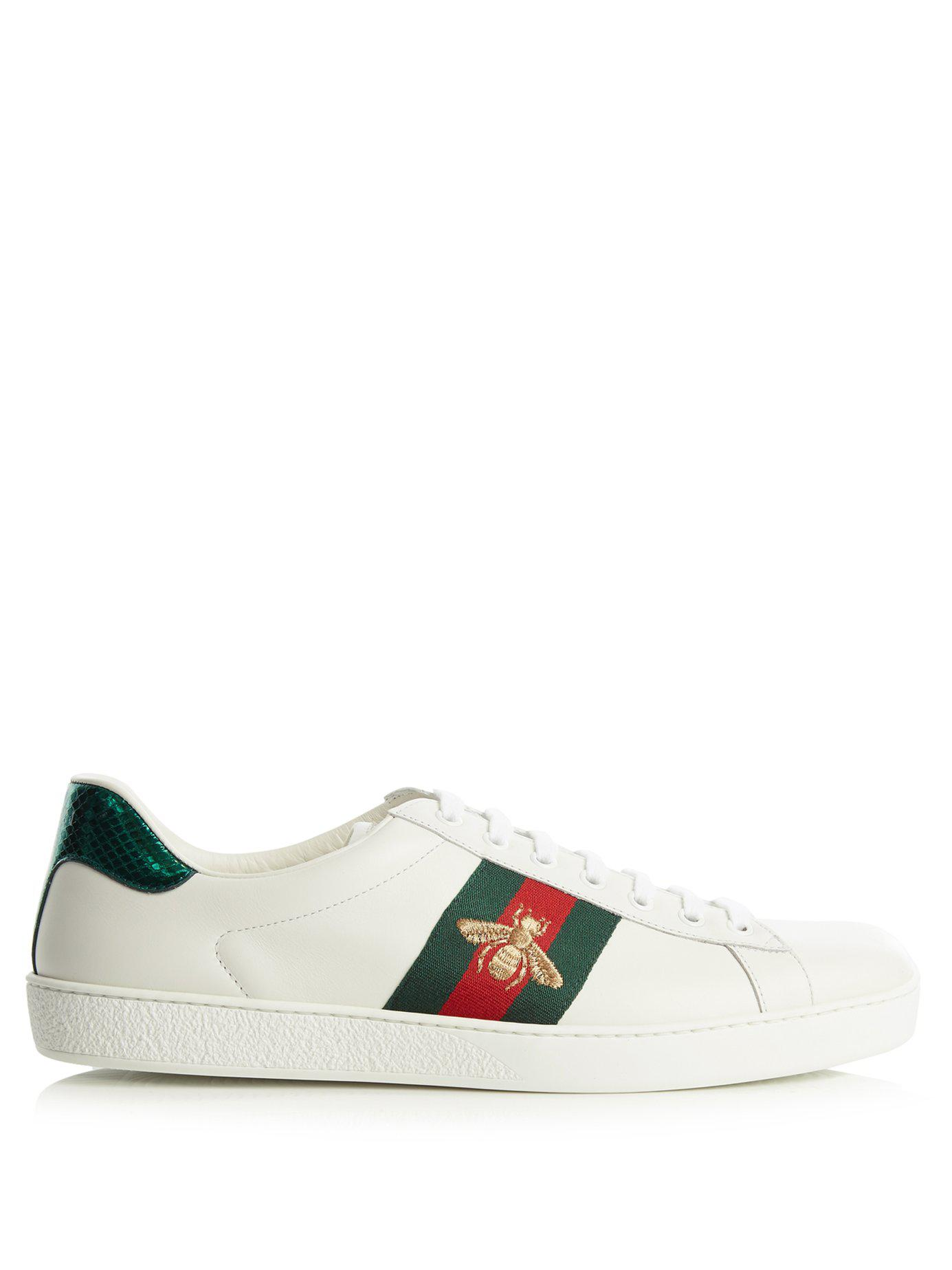 ad15e3adeee Lyst - Gucci Ace Embroidered Low-top Sneaker in White - Save 27%