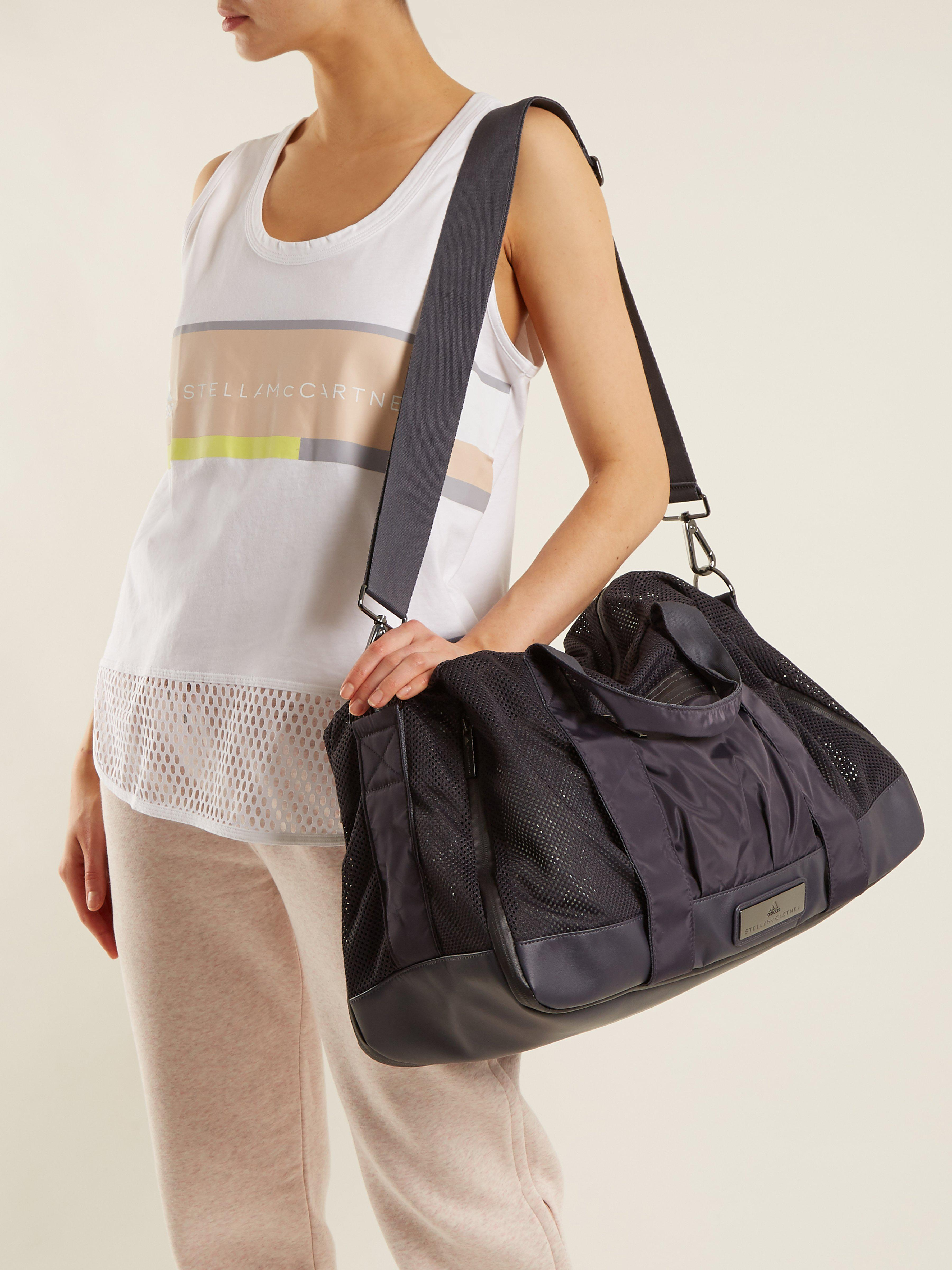 Adidas By Stella Mccartney Yoga Holdall Bag in Blue - Lyst c4ccd48bfb1e3