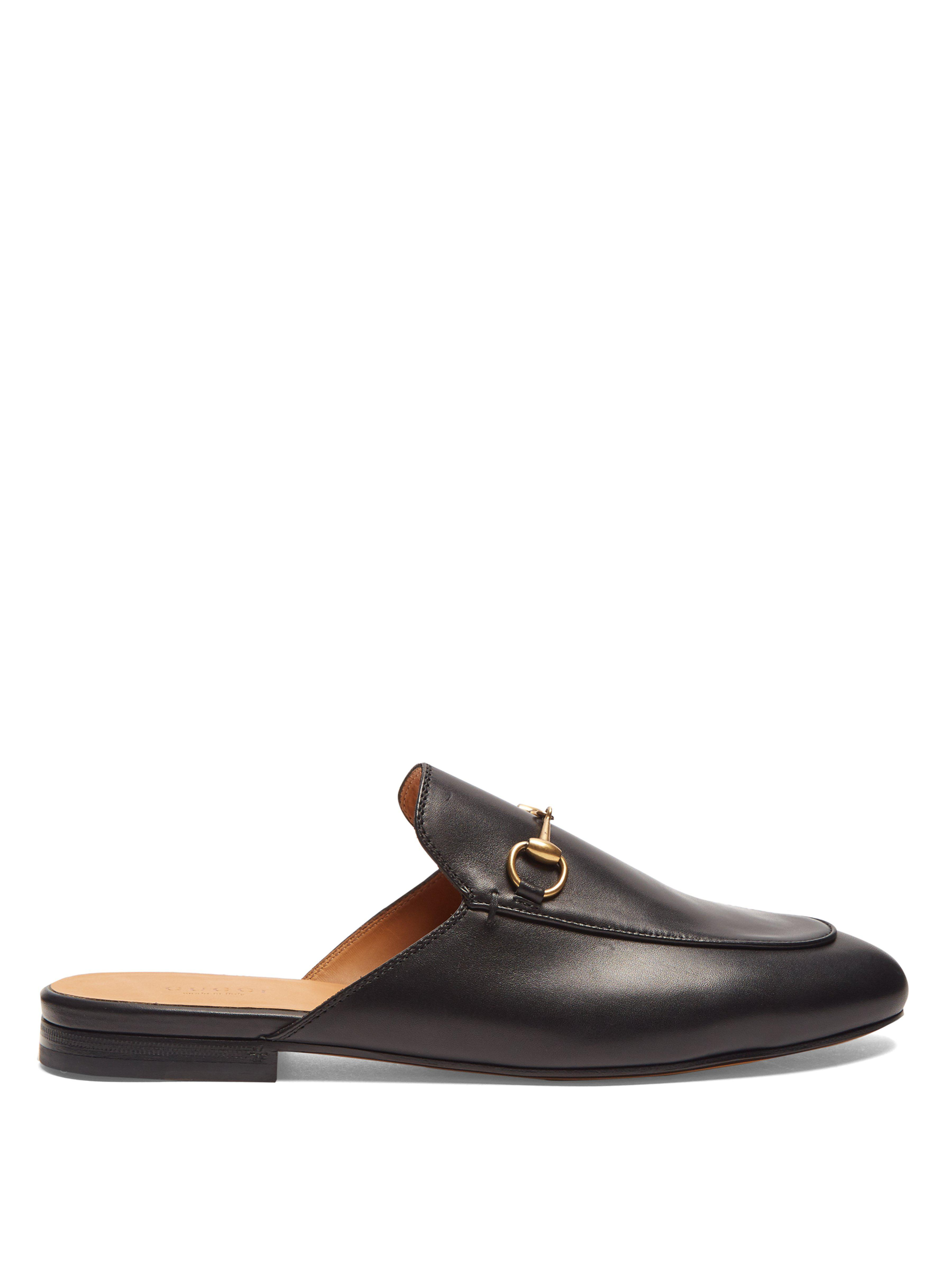 70da9b904f1 Gucci Princetown Leather Backless Loafers in Black - Save 16% - Lyst