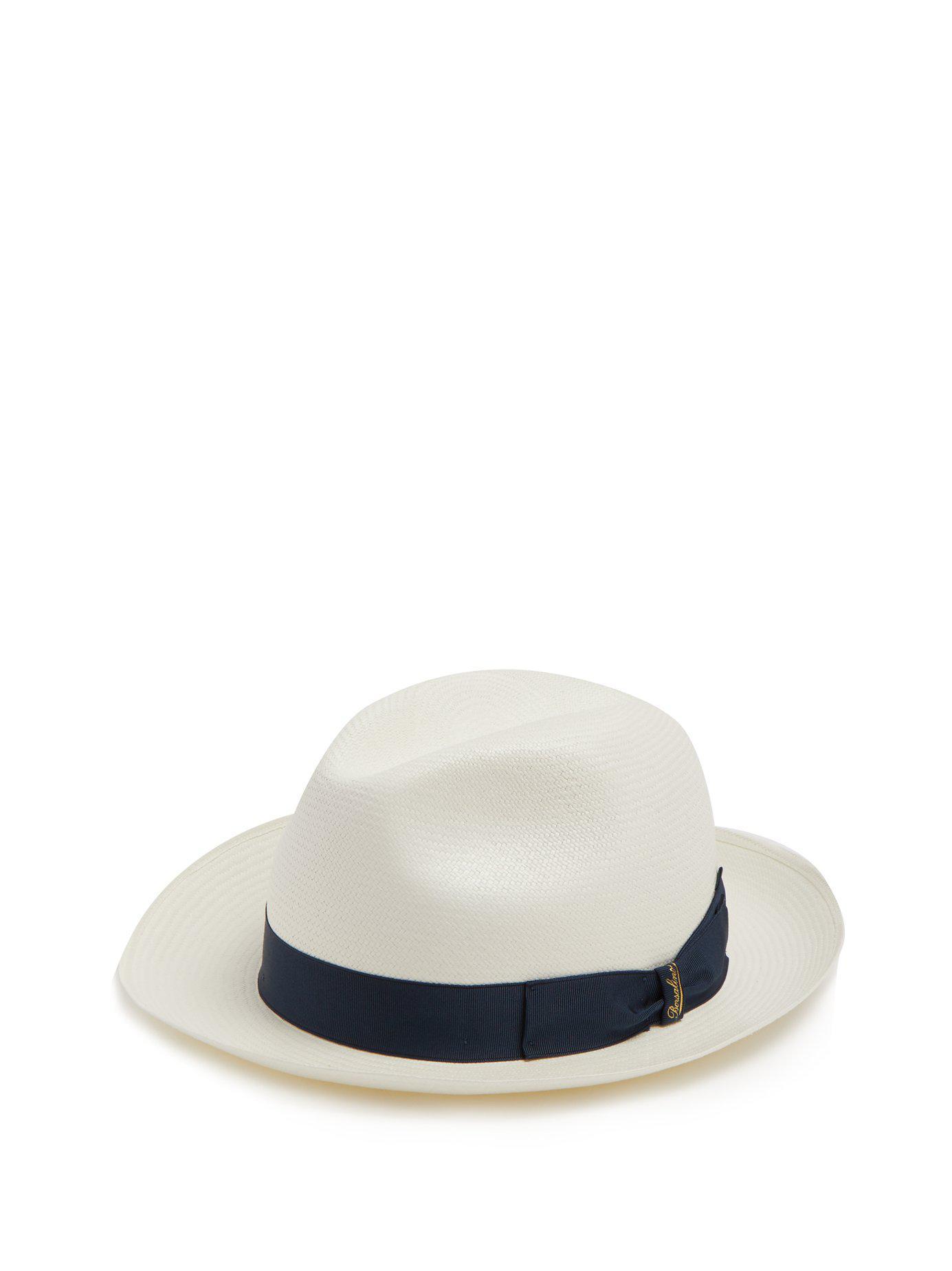 2de9b325 Lyst - Borsalino Panama Fine Toquilla Straw Hat for Men