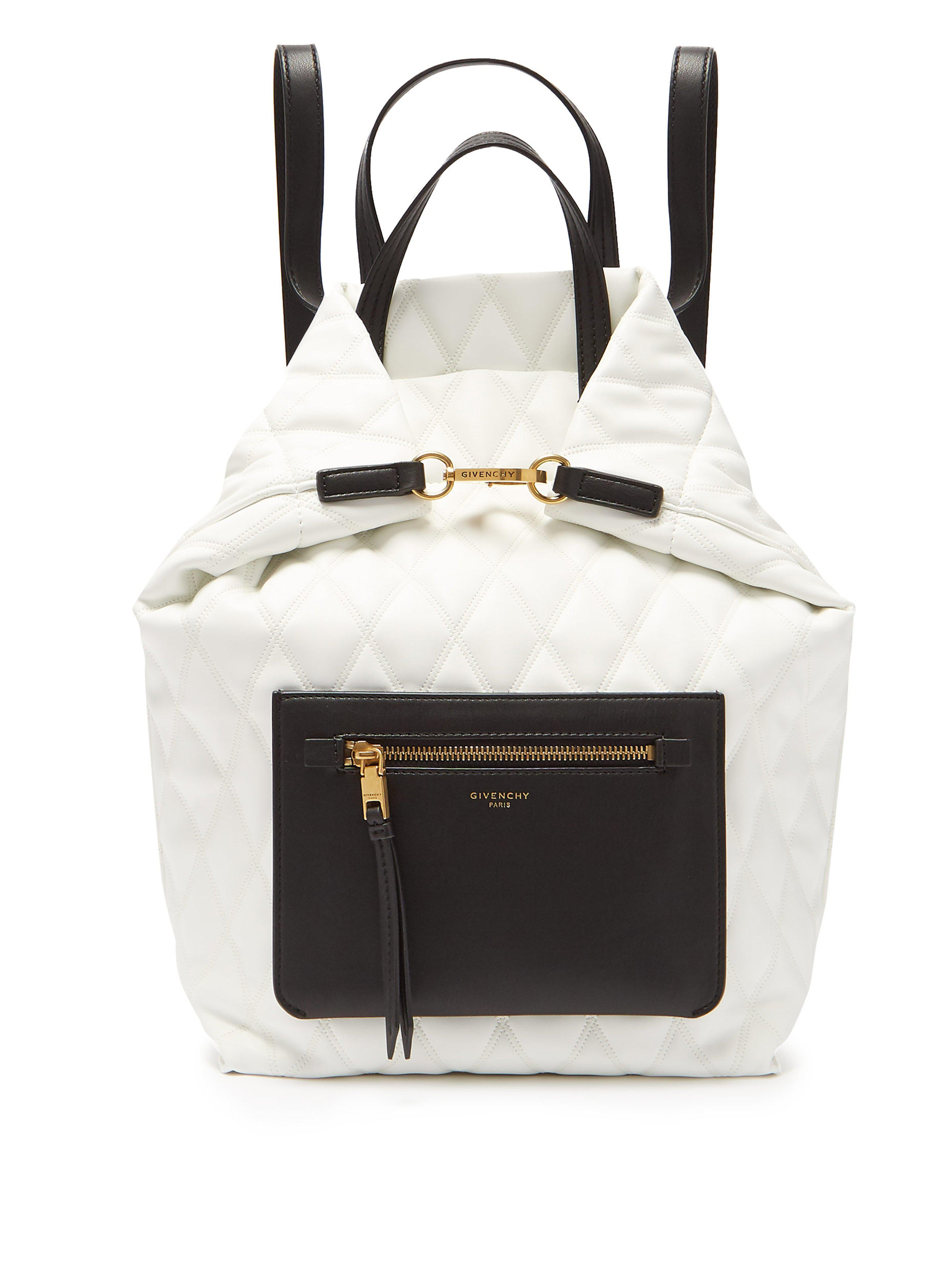 dd728e966573 Givenchy White Small Duo Backpack in White - Save 18% - Lyst
