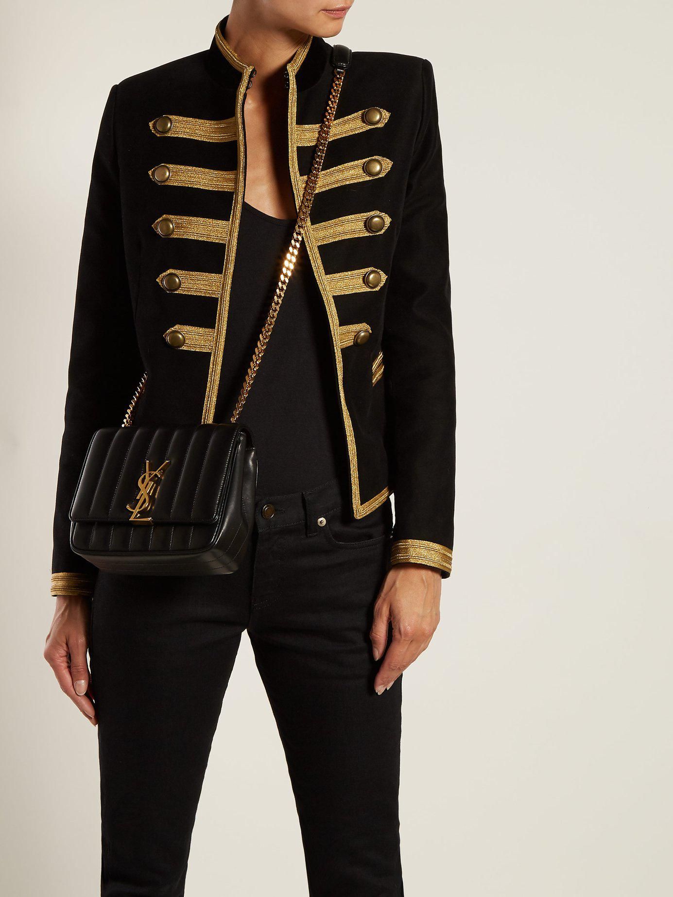 e511cafdc5 Saint Laurent Sulpice Medium Leather Bag in Black - Lyst