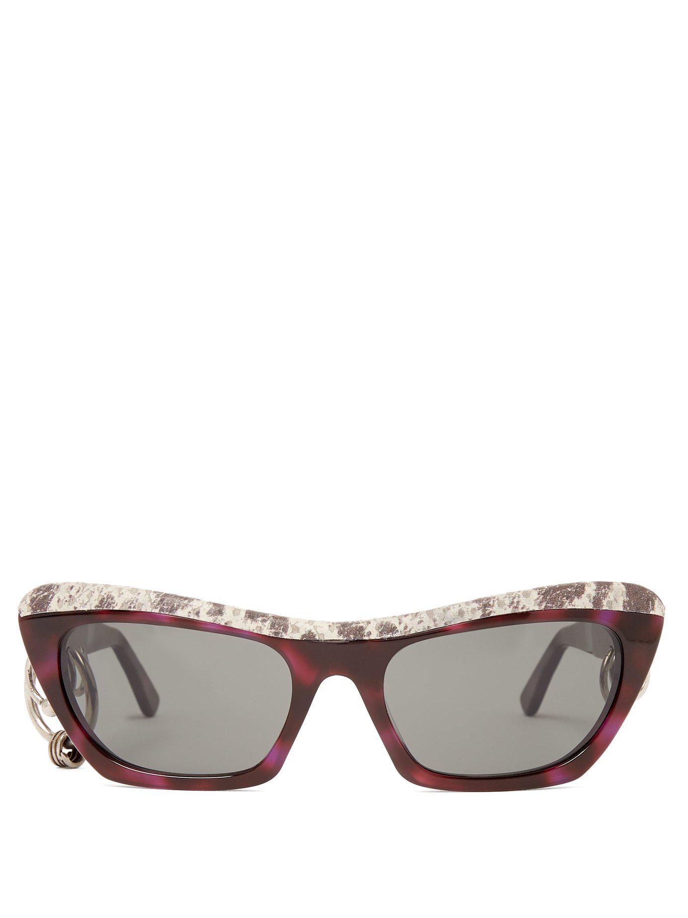 831e08f63d Acne Studios. Women s Dielle Cat Eye Leather And Acetate Sunglasses
