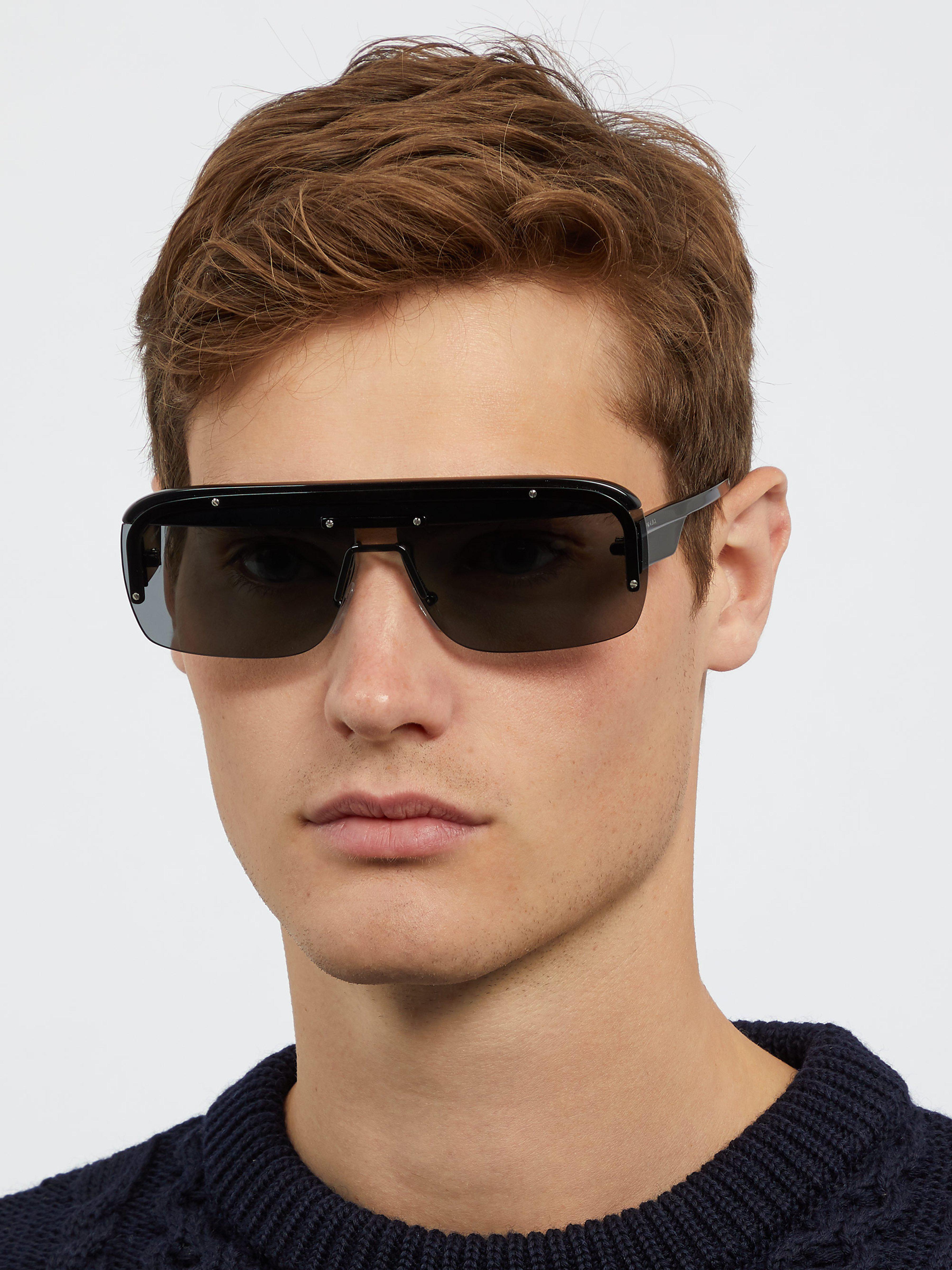 cfa083fd775d ... new zealand prada black game d frame acetate sunglasses for men lyst.  view fullscreen 623bf