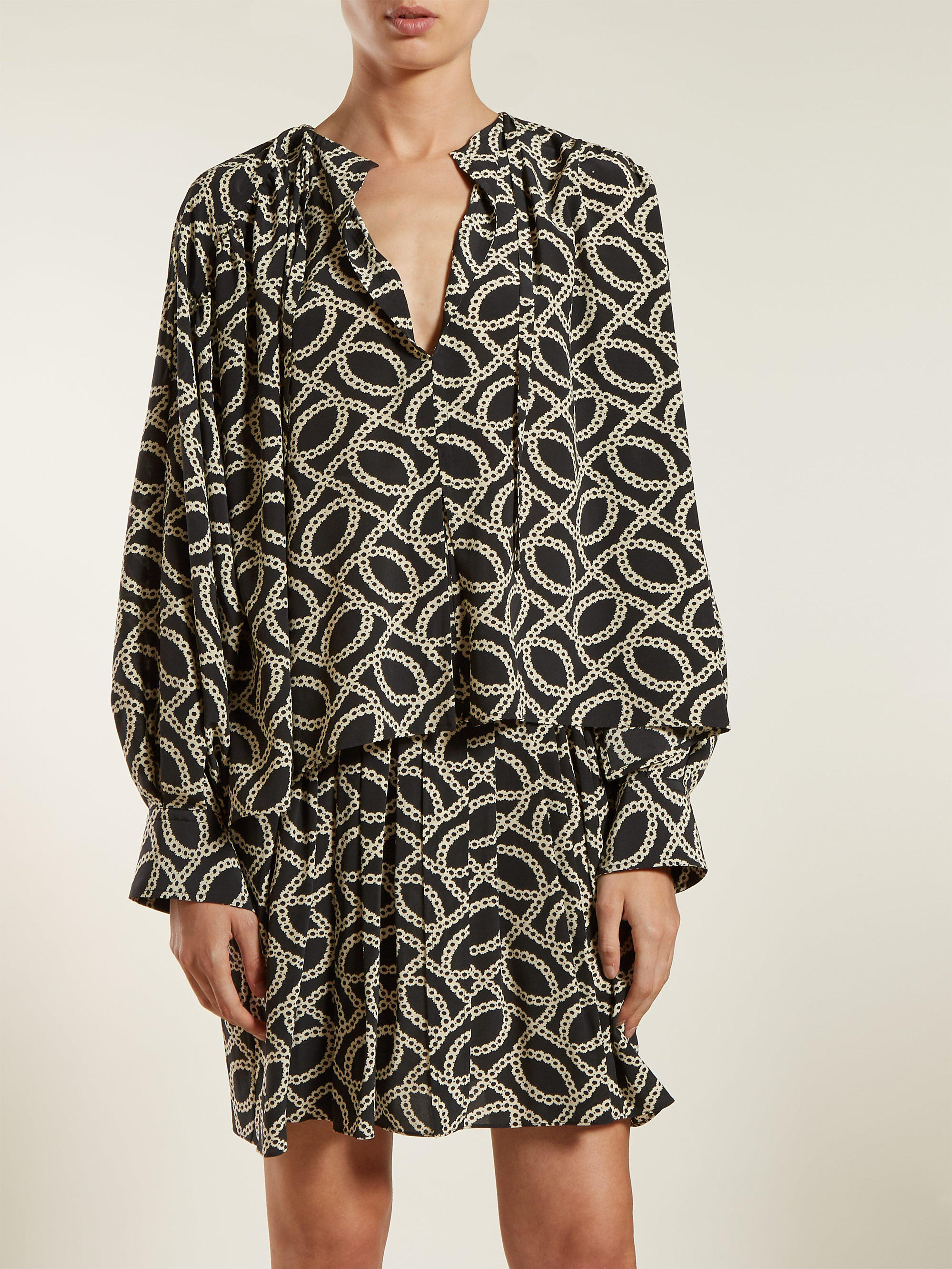 Isabel Amba Lyst Black Crepe Print In Blouse Marant Cog 92YIWEDH