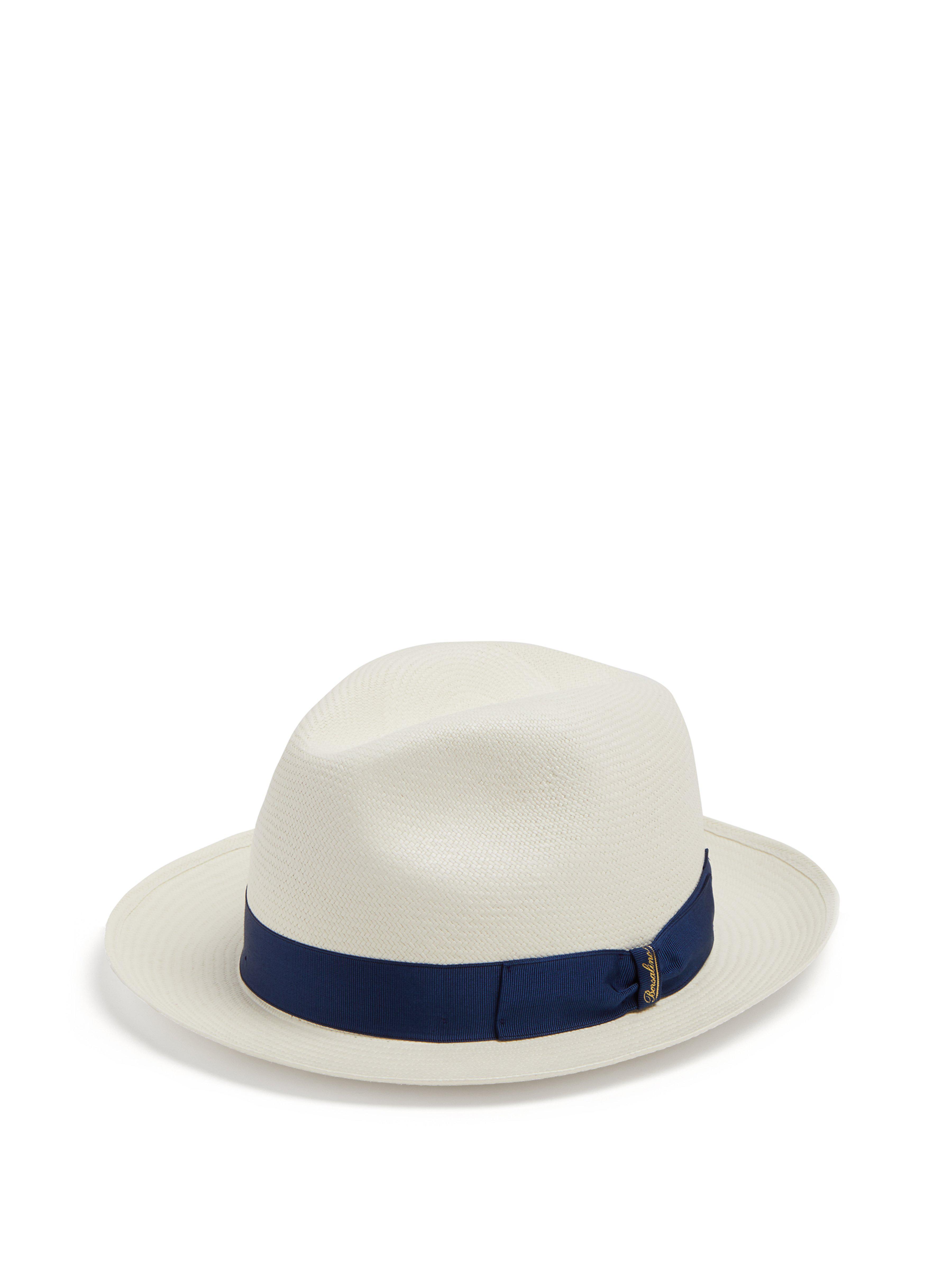 dda7740a60e73 Borsalino Fine Panama Hat in Blue for Men - Lyst