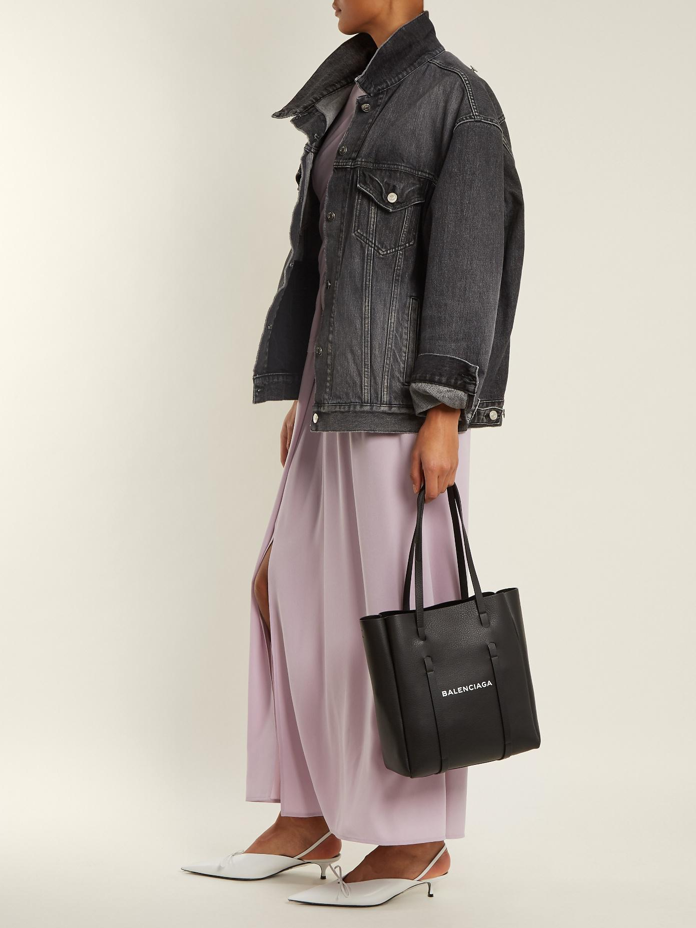 Lyst - Balenciaga Everyday Xs Leather Tote in Blue