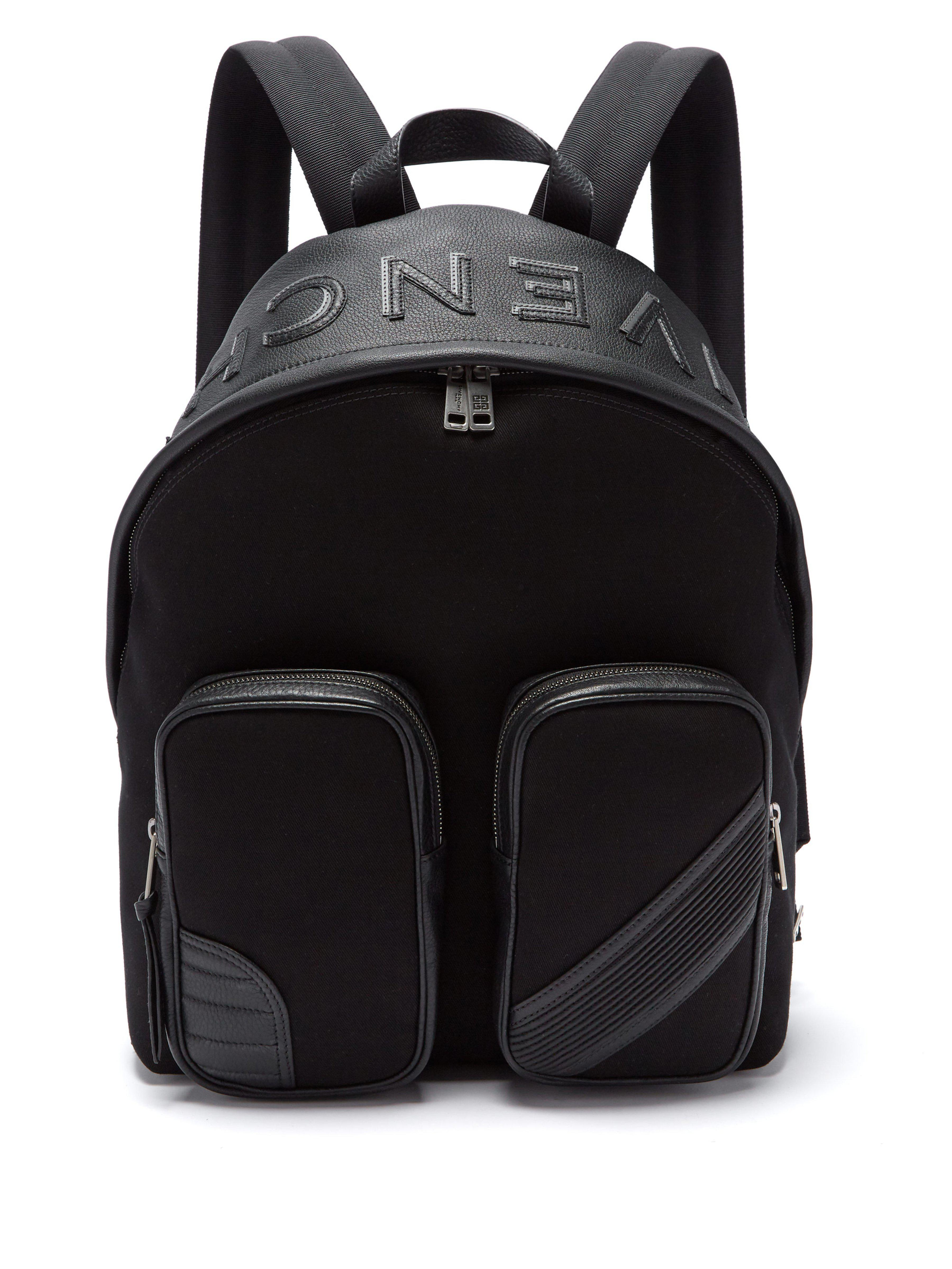 0ef810d997 Givenchy - Black Mc3 Canvas And Leather Backpack for Men - Lyst. View  fullscreen