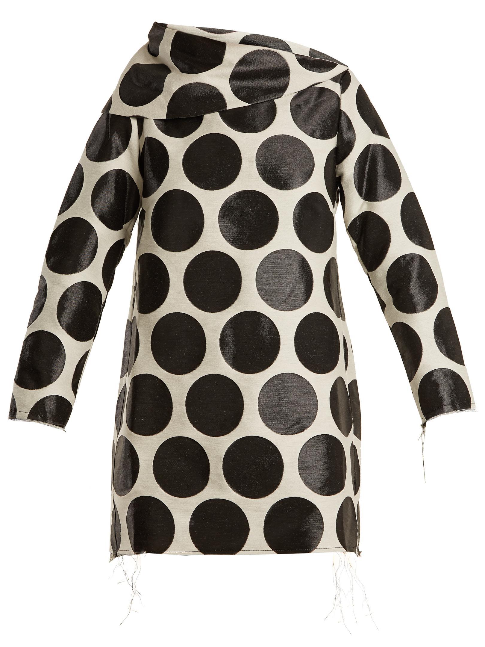 Circle-jacquard asymmetric-neck dress Marques Almeida 9c1vO2wq