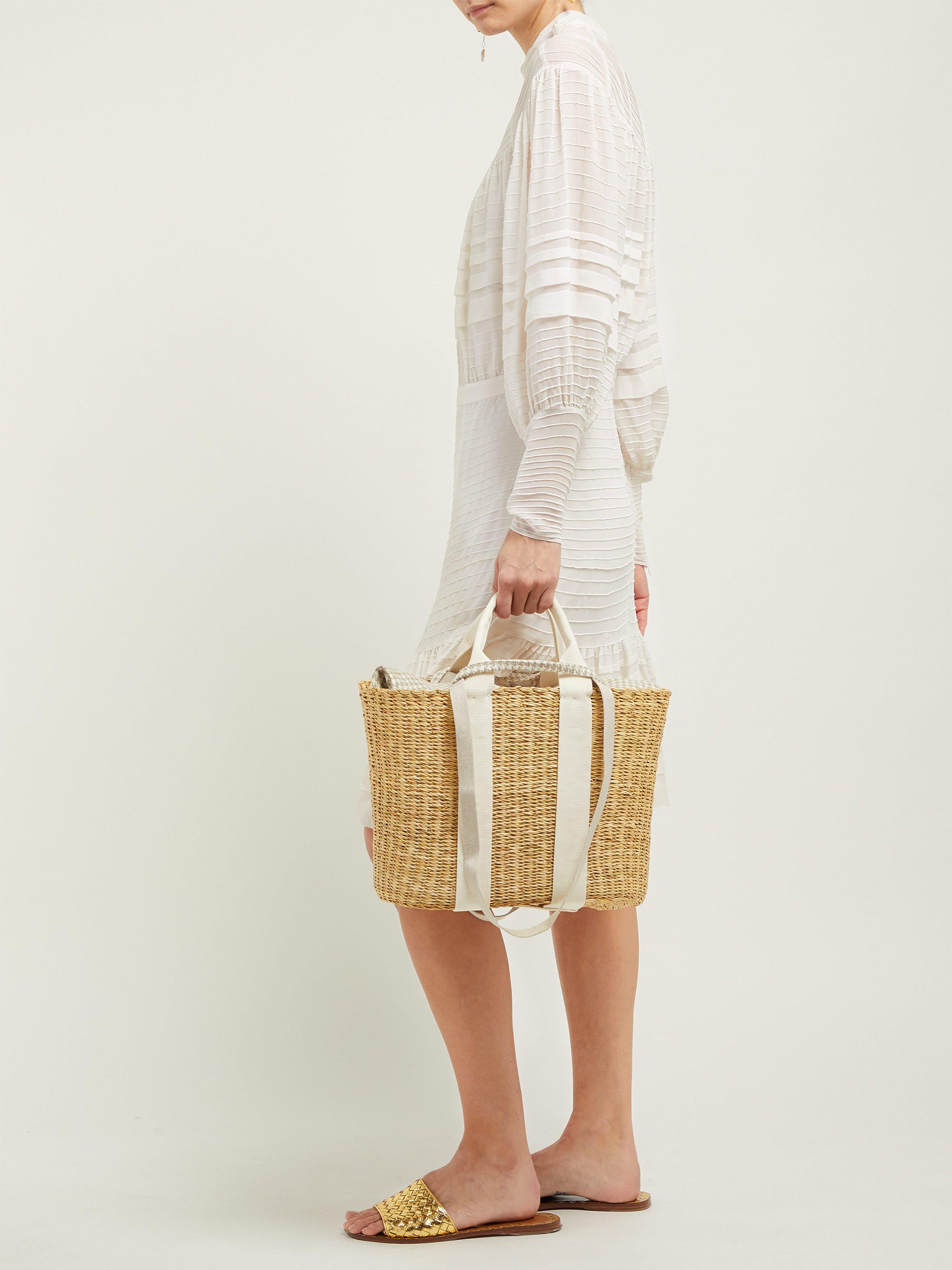 080031c637fa Muuñ Caba Canvas And Straw Bag in Natural - Lyst