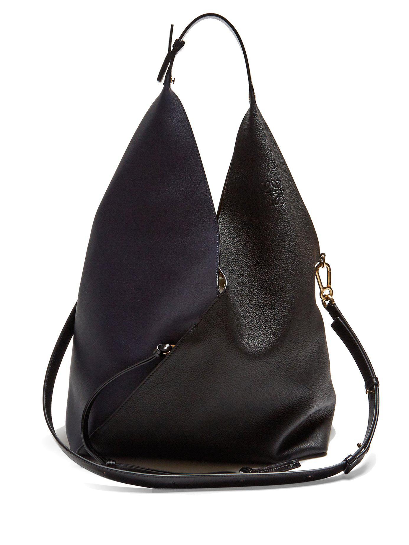Sling contrast-panel leather shoulder bag Loewe oFXRLoyhx