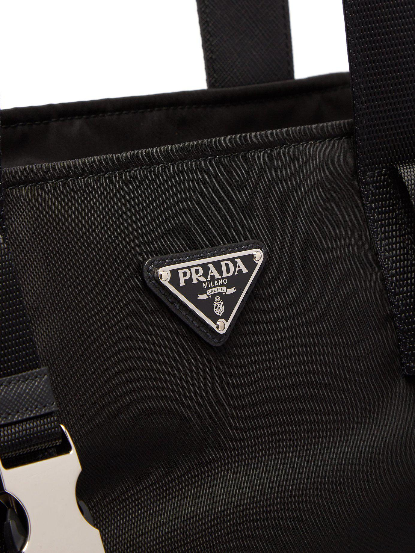 8815c450e932c6 Prada - Black Nylon Weekend Bag for Men - Lyst. View fullscreen