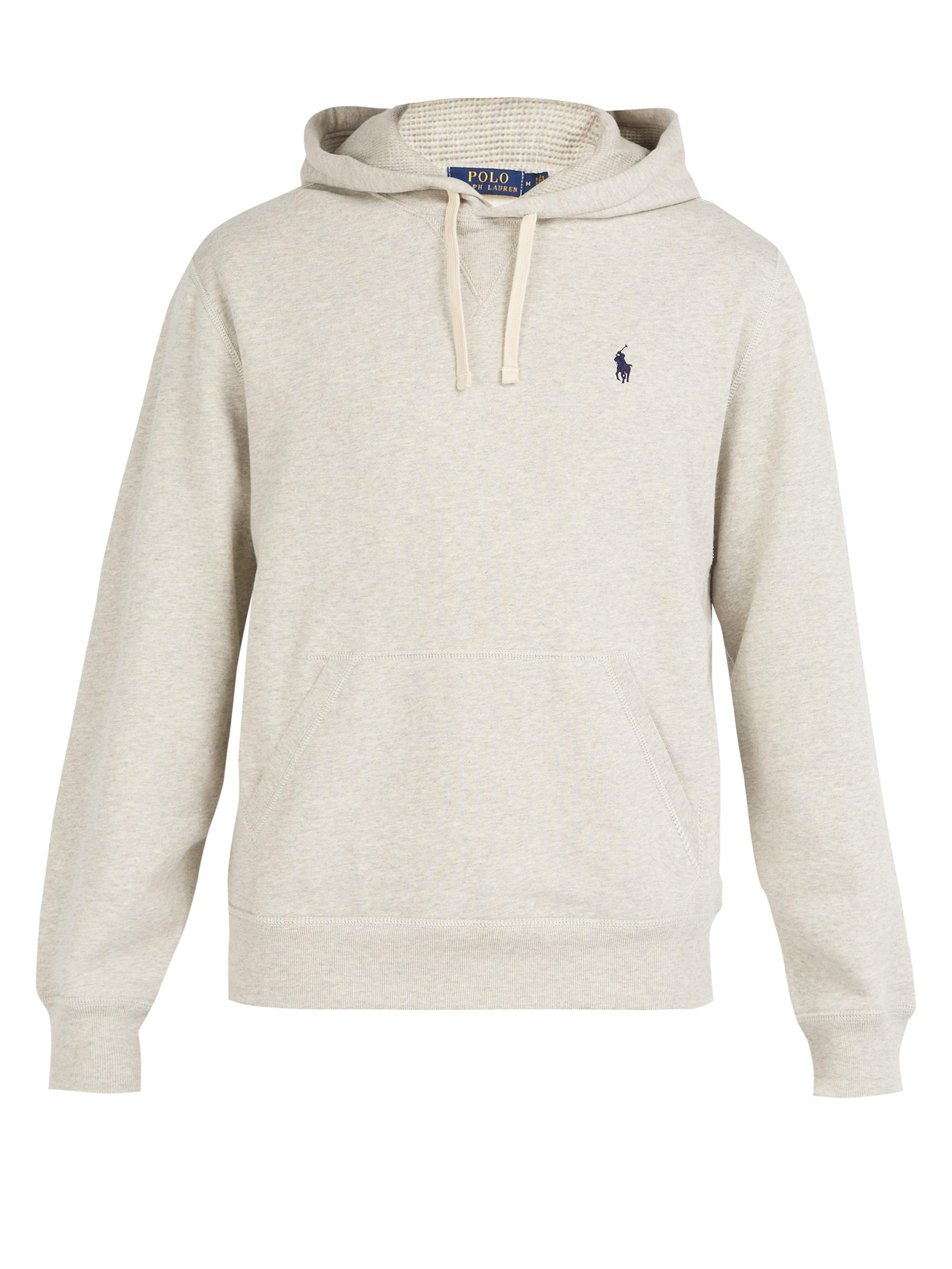 abb25acd8440 Polo Ralph Lauren. Men s Gray Fleece Back Cotton Jersey Hooded Sweatshirt