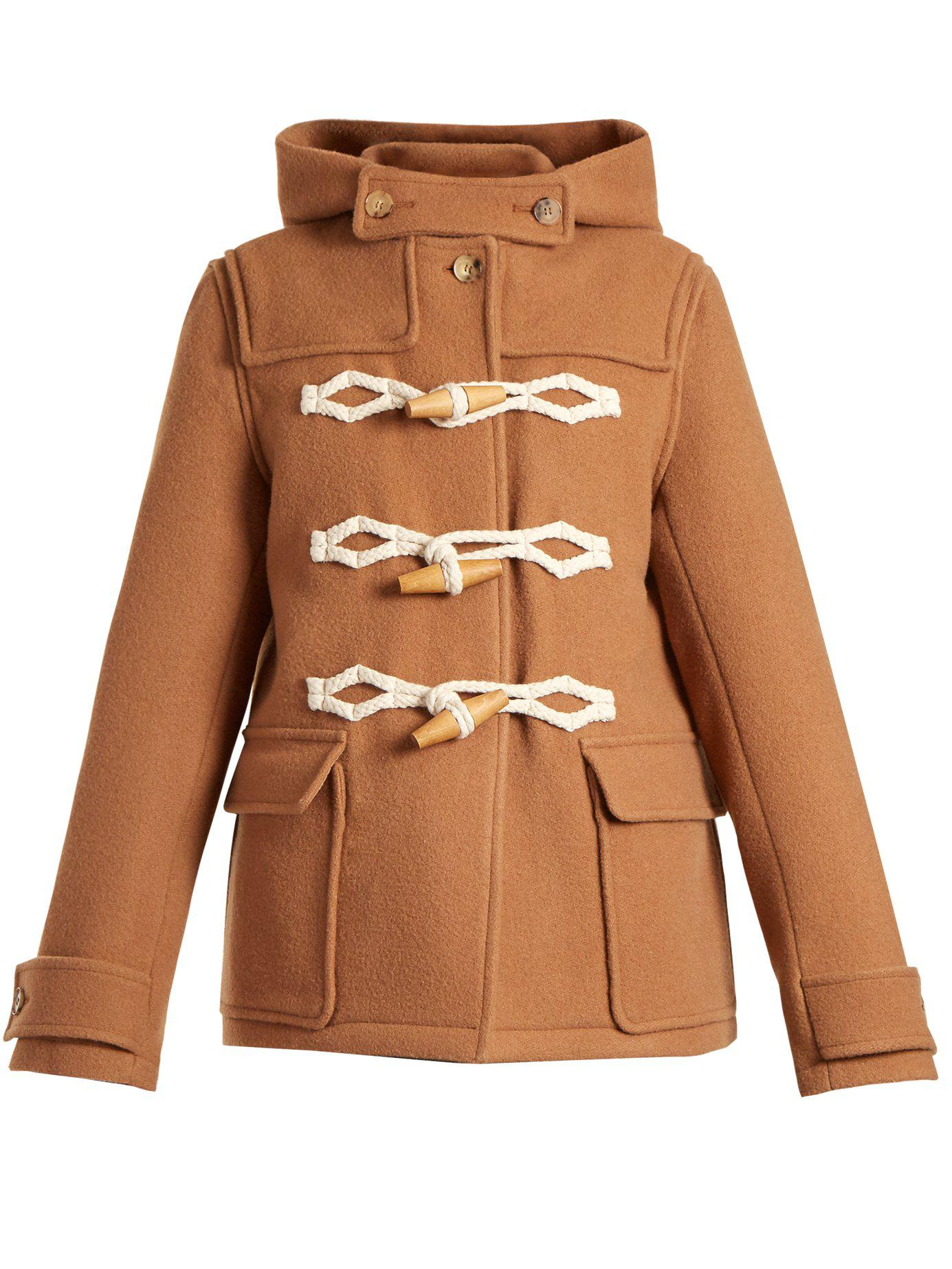 70ab497d9d79 Lyst - J.W. Anderson Hooded Duffle Coat in Brown