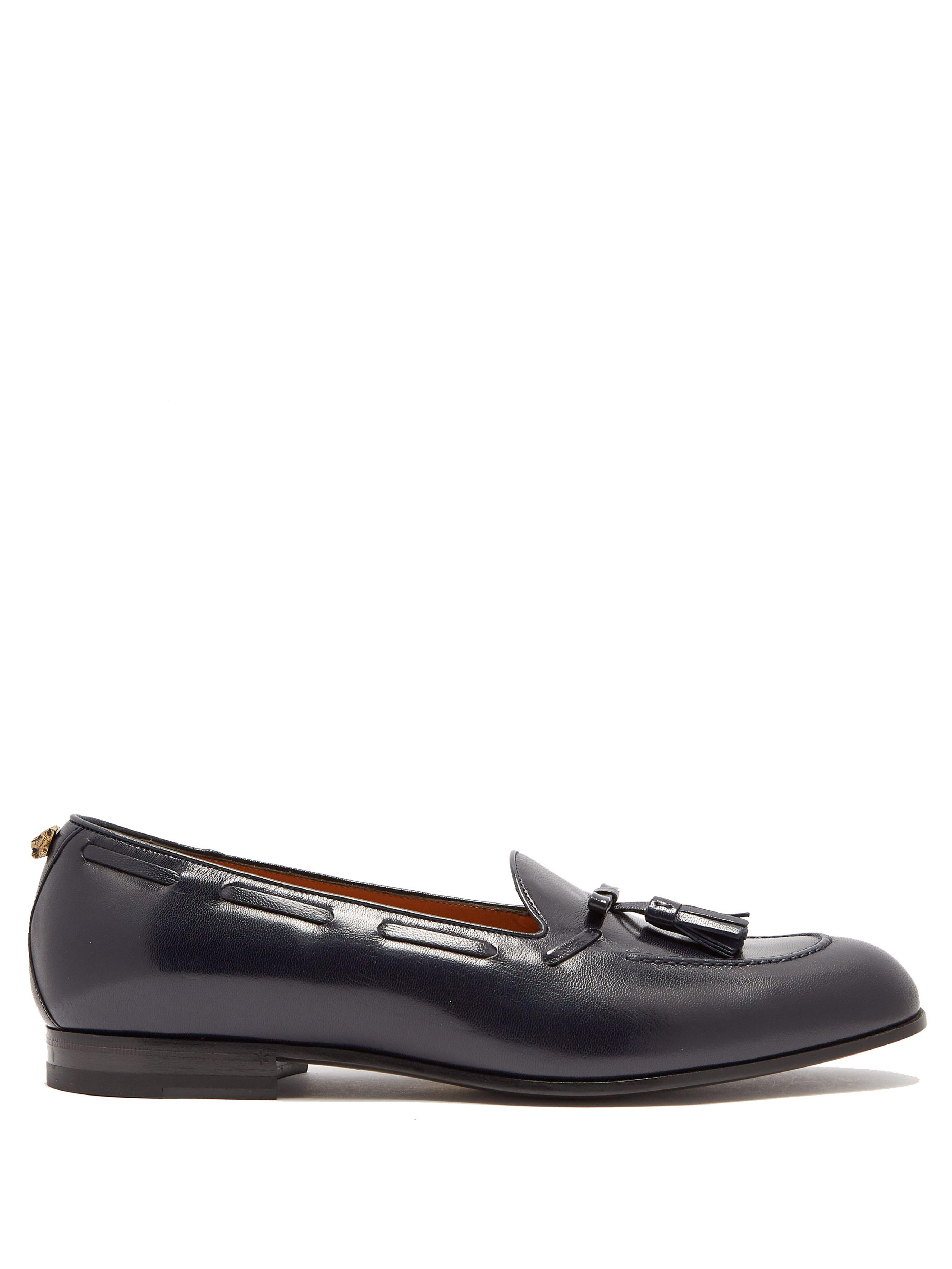 2aa99313106 Gucci Leather Tassel Loafers in Blue for Men - Lyst