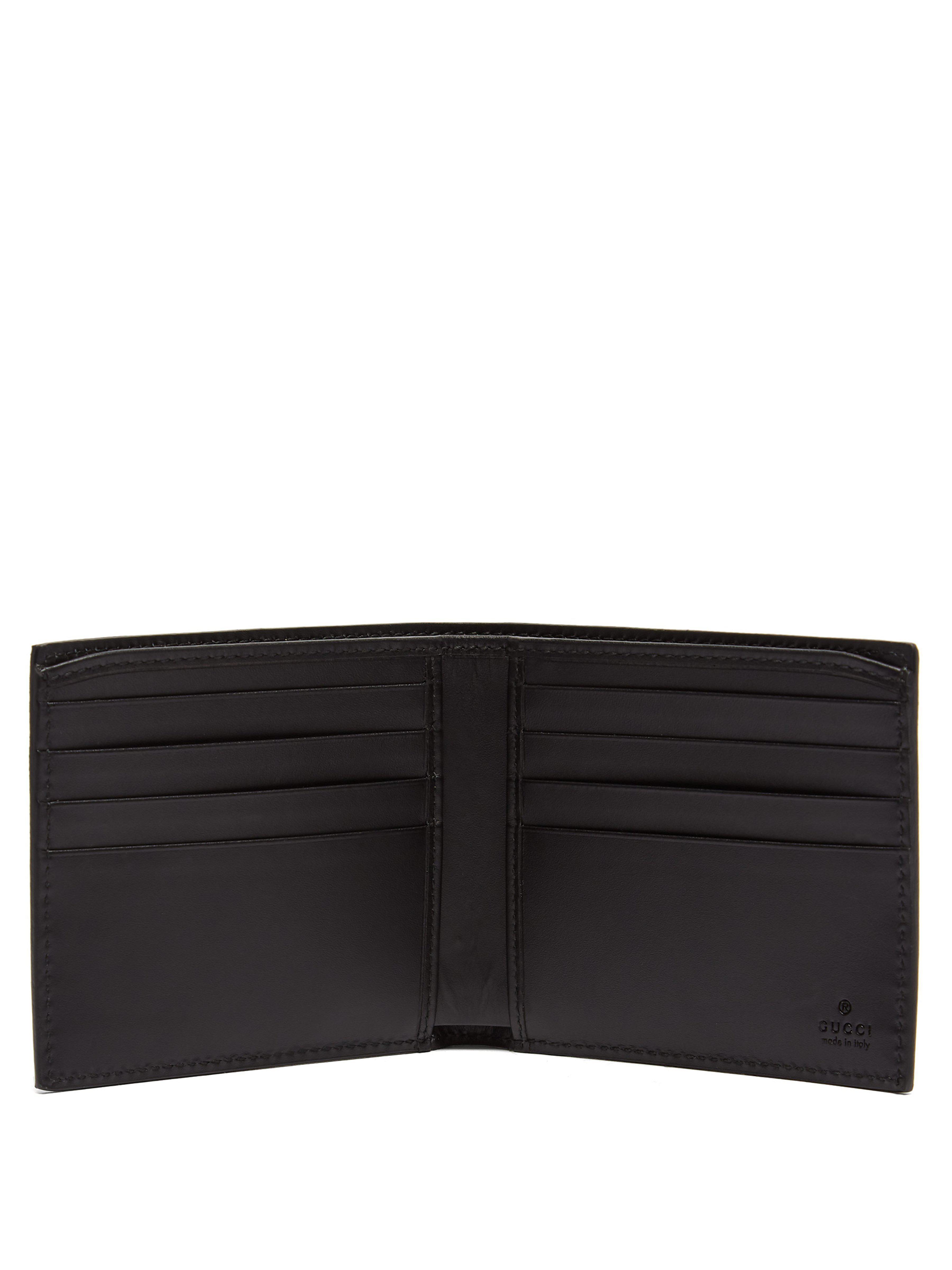 7a38d35ec6ca Gucci Gg Supreme Kingsnake Bi Fold Wallet in Brown for Men - Lyst