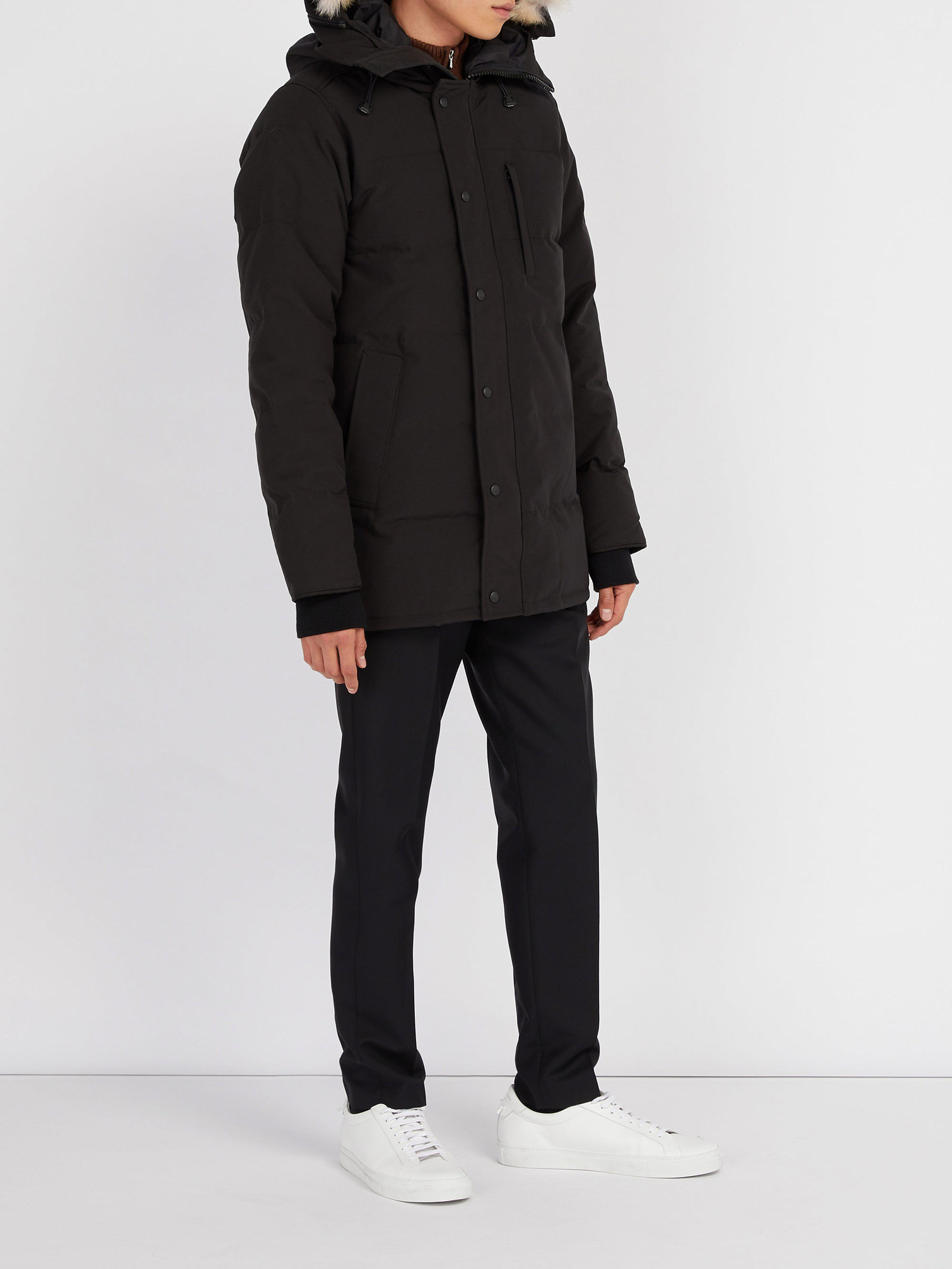 151102dd82e Canada Goose Carson Quilted Down Hooded Parka in Black for Men - Lyst