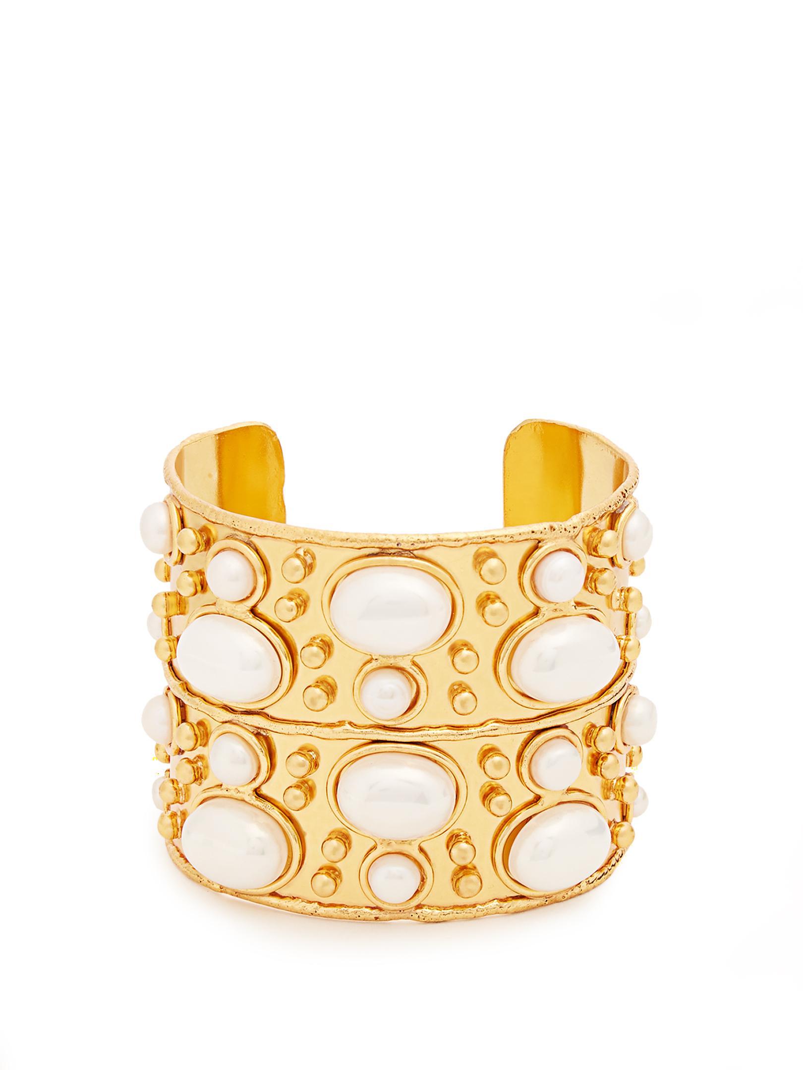 Sylvia Toledano Byzantine Cuff Bracelet in Gold-Plated Brass UPYj4O