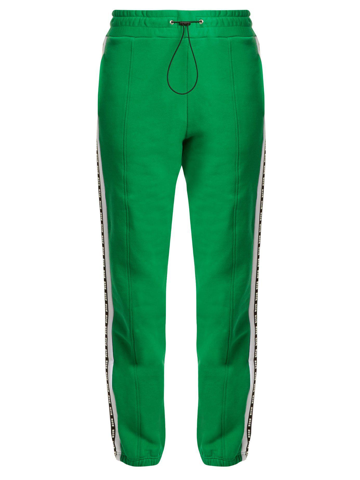 Msgm Pantalon de jogging en coton à logo imprimé knmYzb