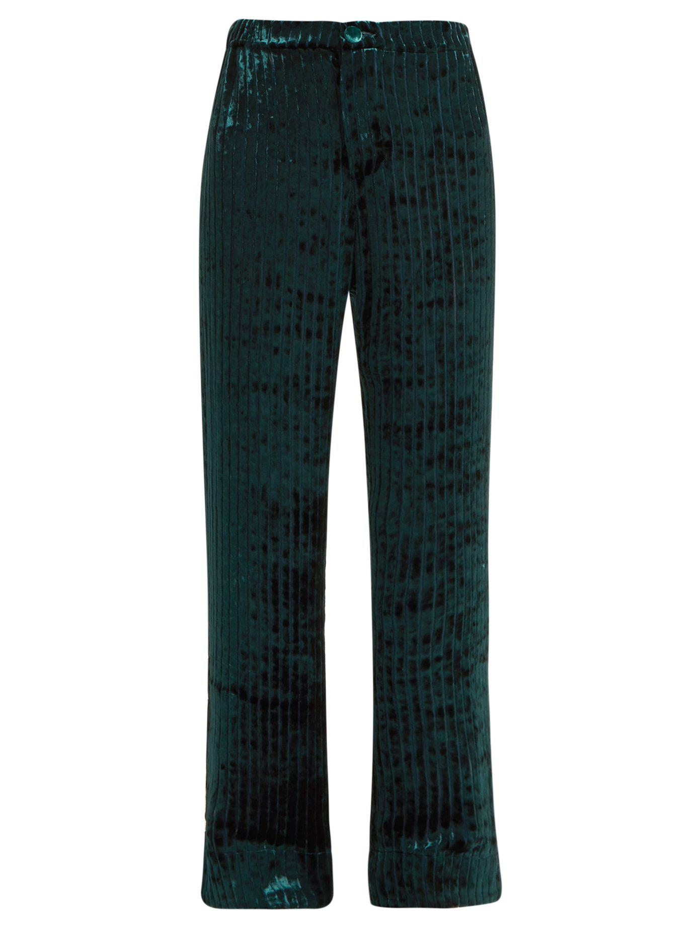 f2cc6f4c8948 Lyst - F.R.S For Restless Sleepers Etere Devoré-velvet Trousers in Blue