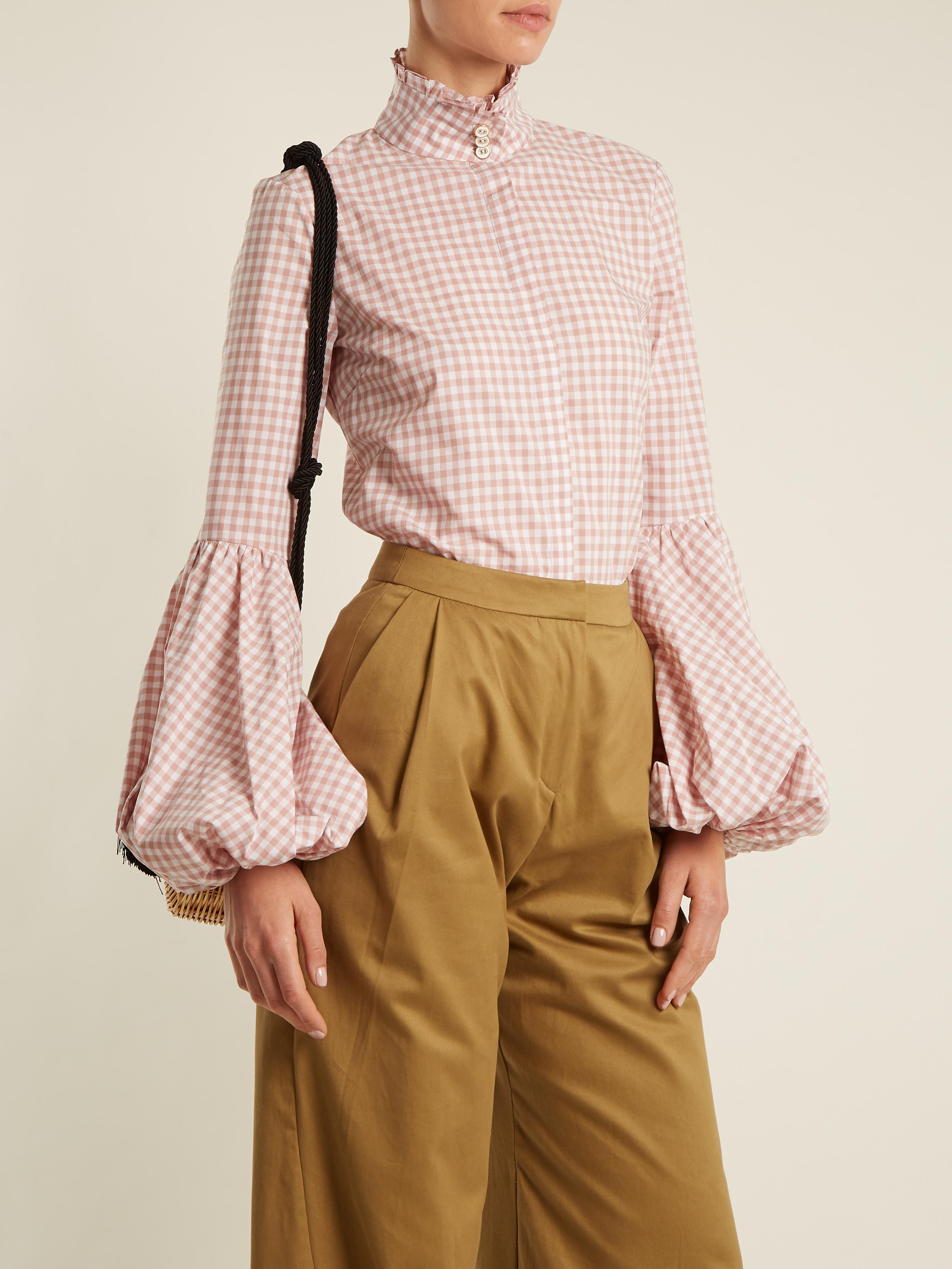Jaqueline gingham-checked cotton shirt Caroline Constas Great Deals Online Outlet Visit New Cheap Sale Pay With Paypal Discount Lowest Price 16VA7