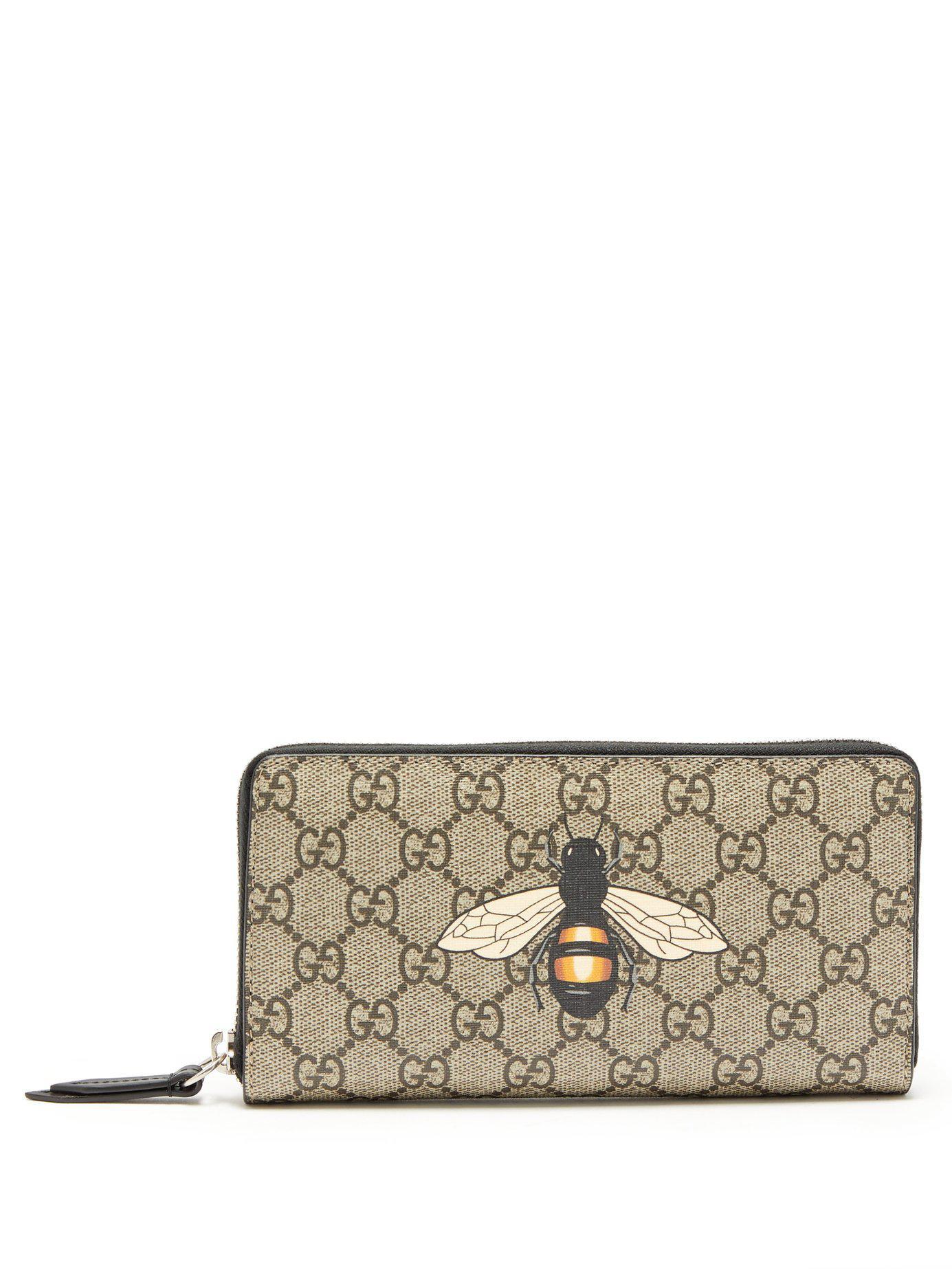 b1ed9bd8628db Lyst Portefeuille A Imprime Abeille Supreme Gg Gucci Pour Homme
