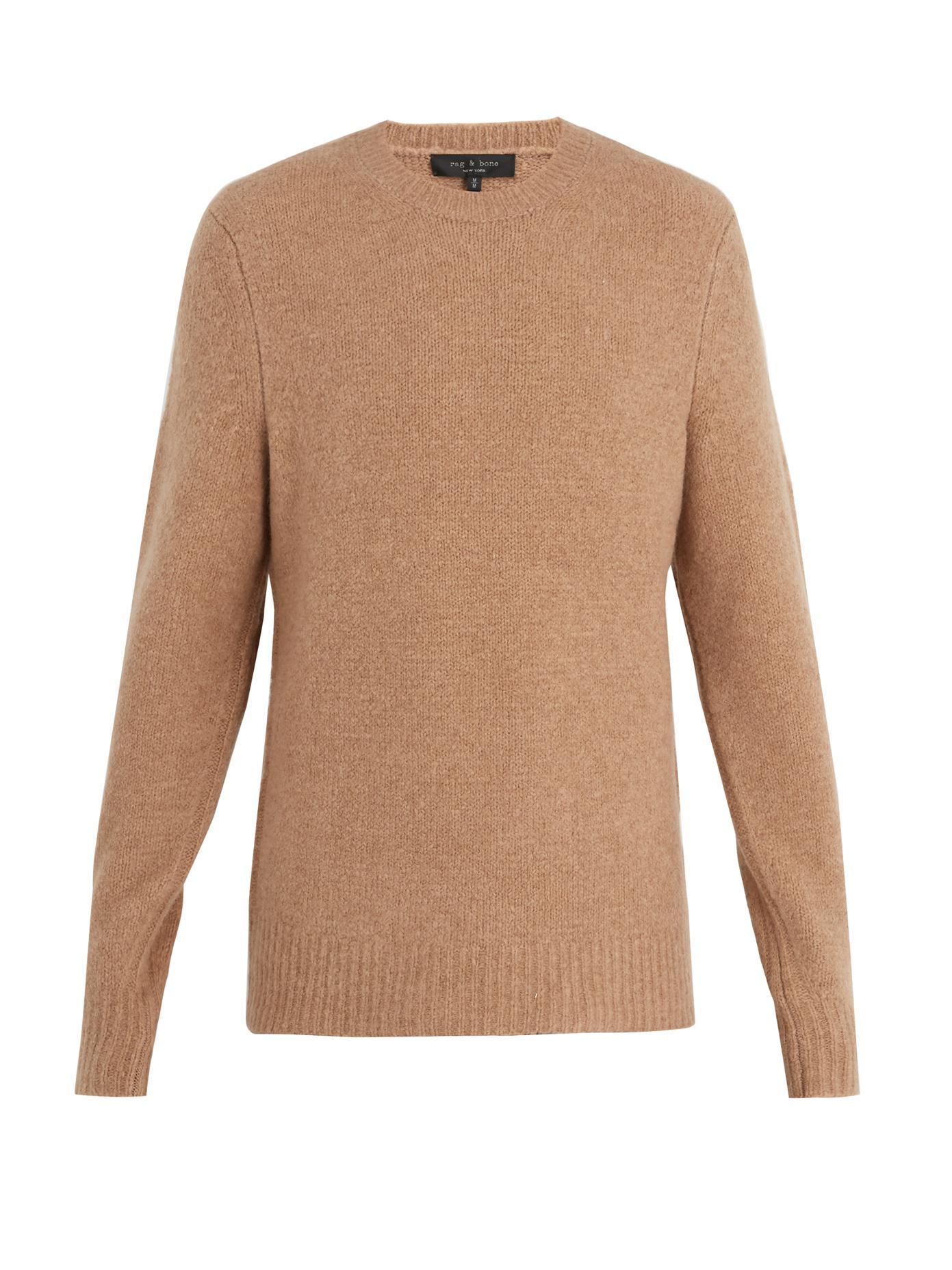 RAG&BONE Charles Merino Wool-blend Sweater - Tan b5XUB4