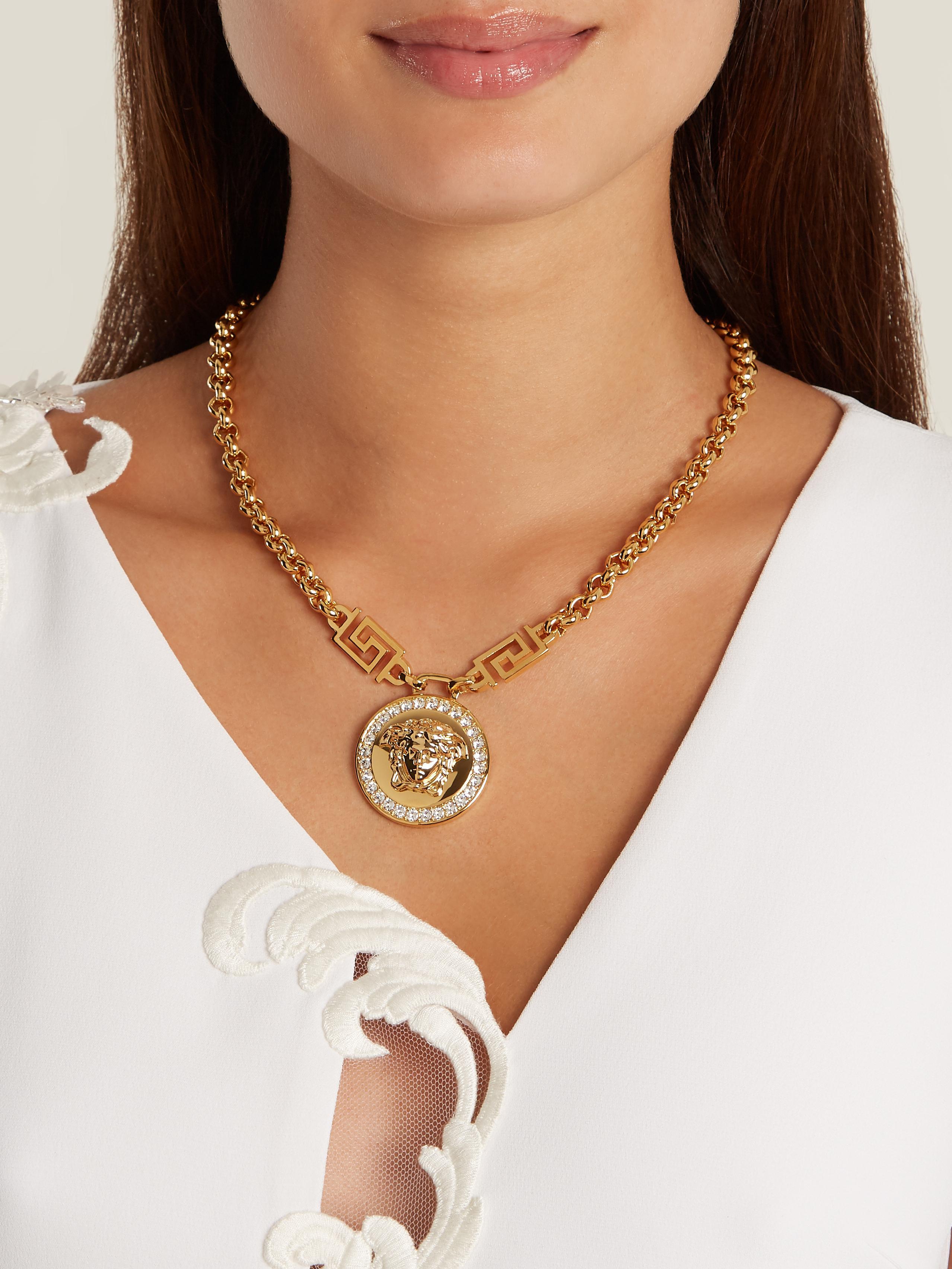 8d5b28fec49ef Versace Gold Chain And Pendant - Pendant Design Ideas